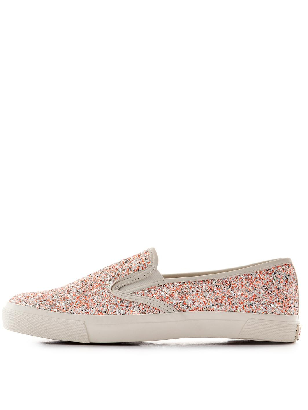 lipsy marnie glitter slip on shoes in pink lyst
