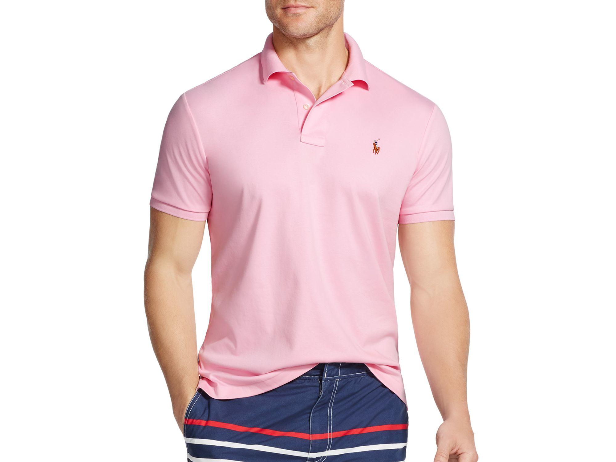 Polo Shirt Ralph Lauren Fit Men Pima Regular Pink Soft Touch For mN8n0w