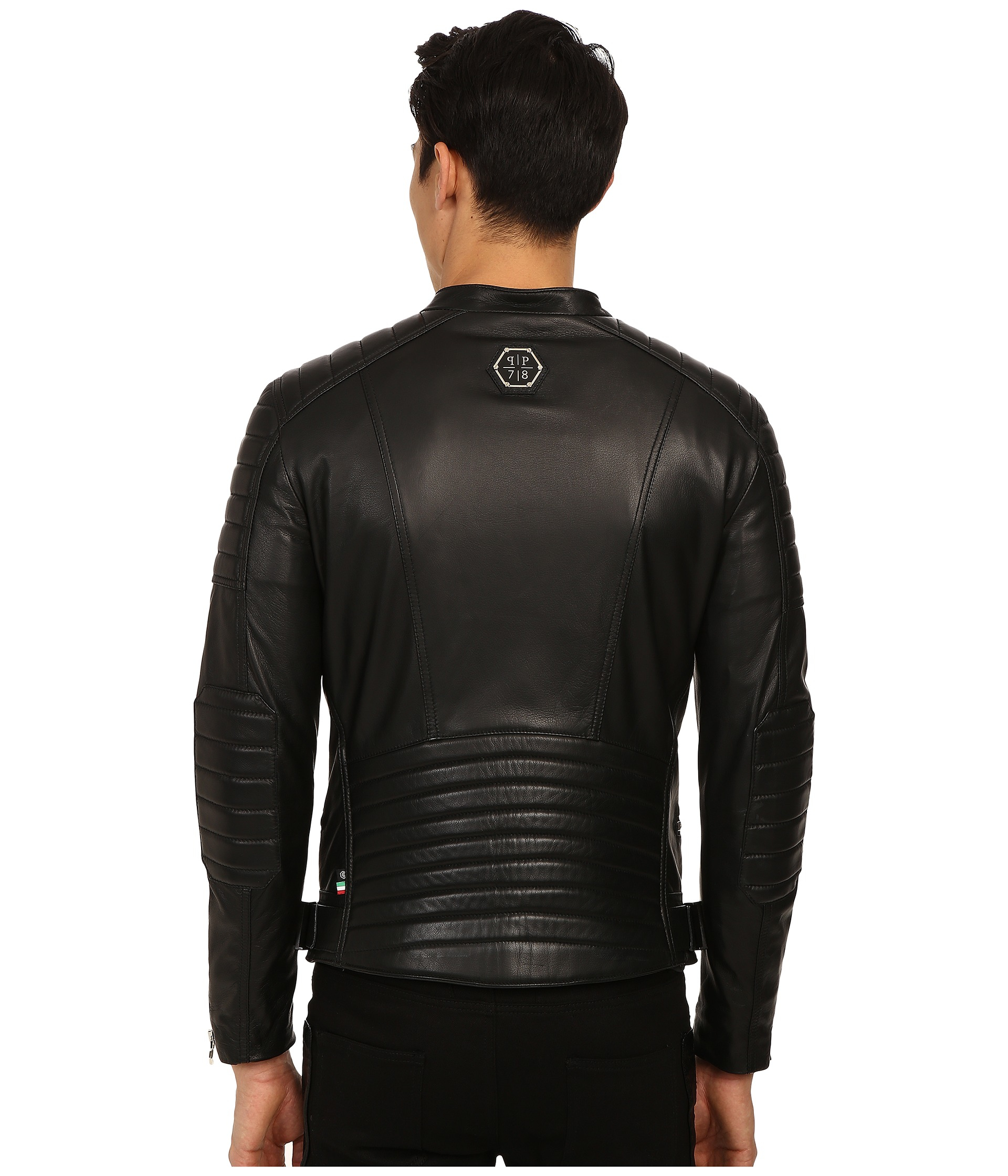 Lyst Philipp Plein Leather Motor Jacket In Black For Men