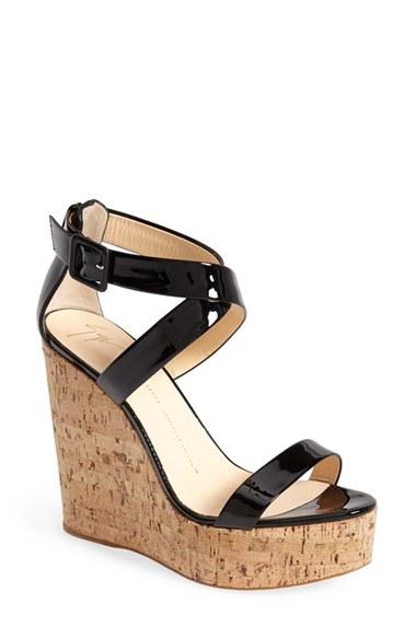 Giuseppe Zanotti 'Roz' Platform Wedge Sandal in Black | Lyst