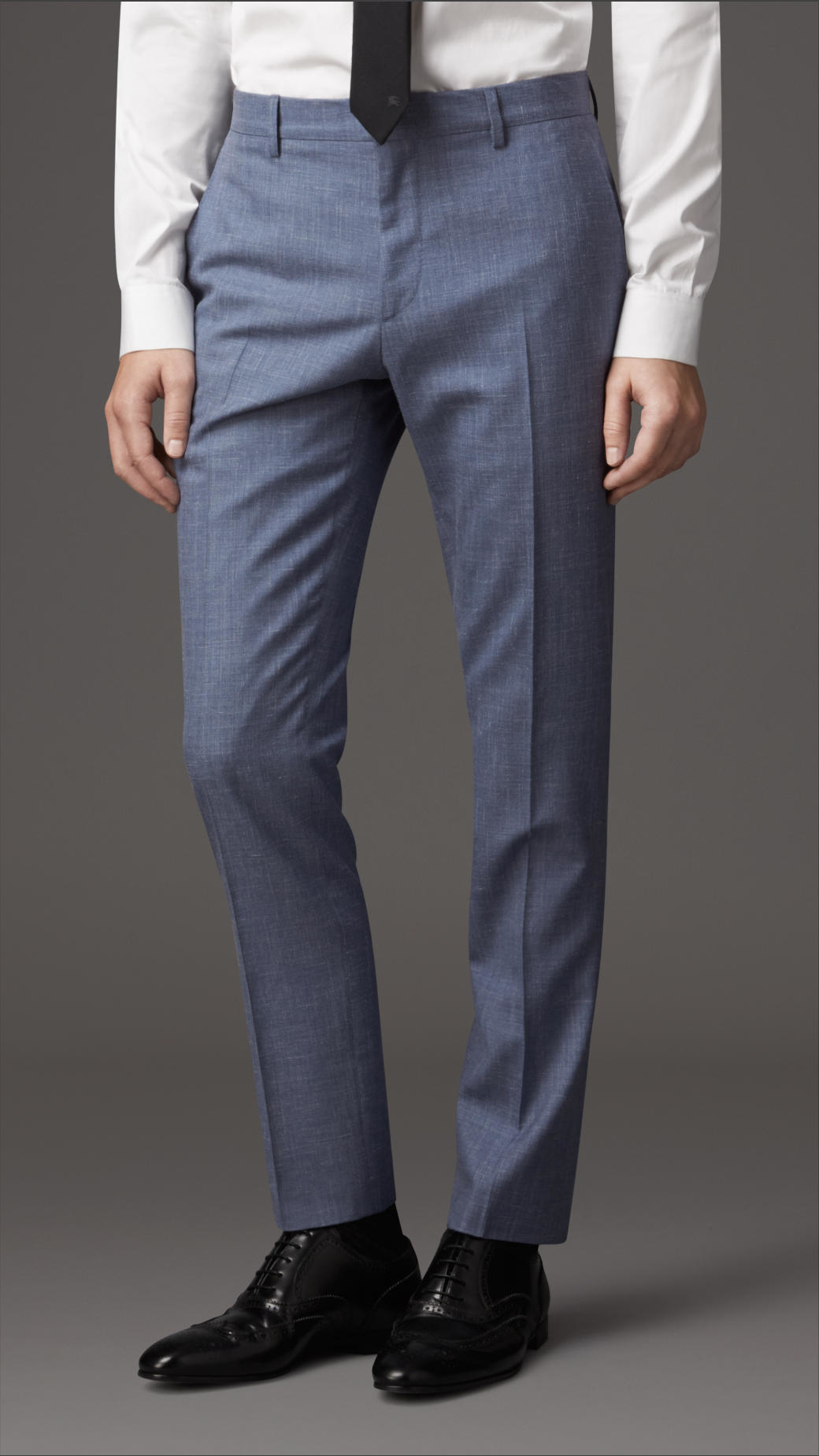 Burberry Slim-Fit Silk, Wool and Linen-Blend Suit in Blue for Men ...