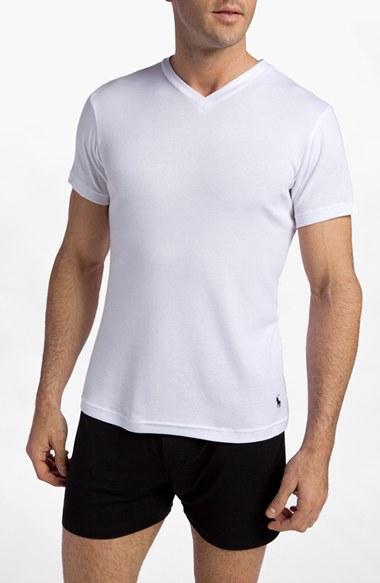 Polo Ralph Lauren V Neck T Shirt 2 Pack In White For