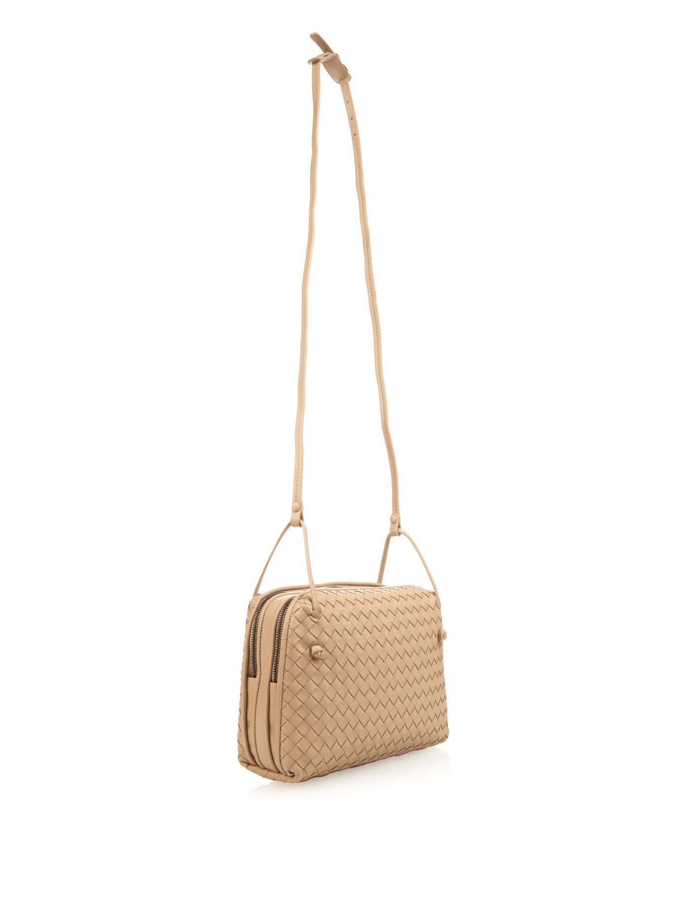 39214fc5072c Bottega Veneta Intrecciato Leather Two-compartment Cross-body Bag in ...