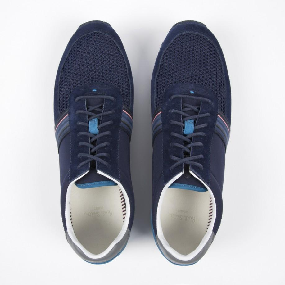 Paul Smith Navy Suede And Fabric 'Moogg' Trainers in Blue for Men