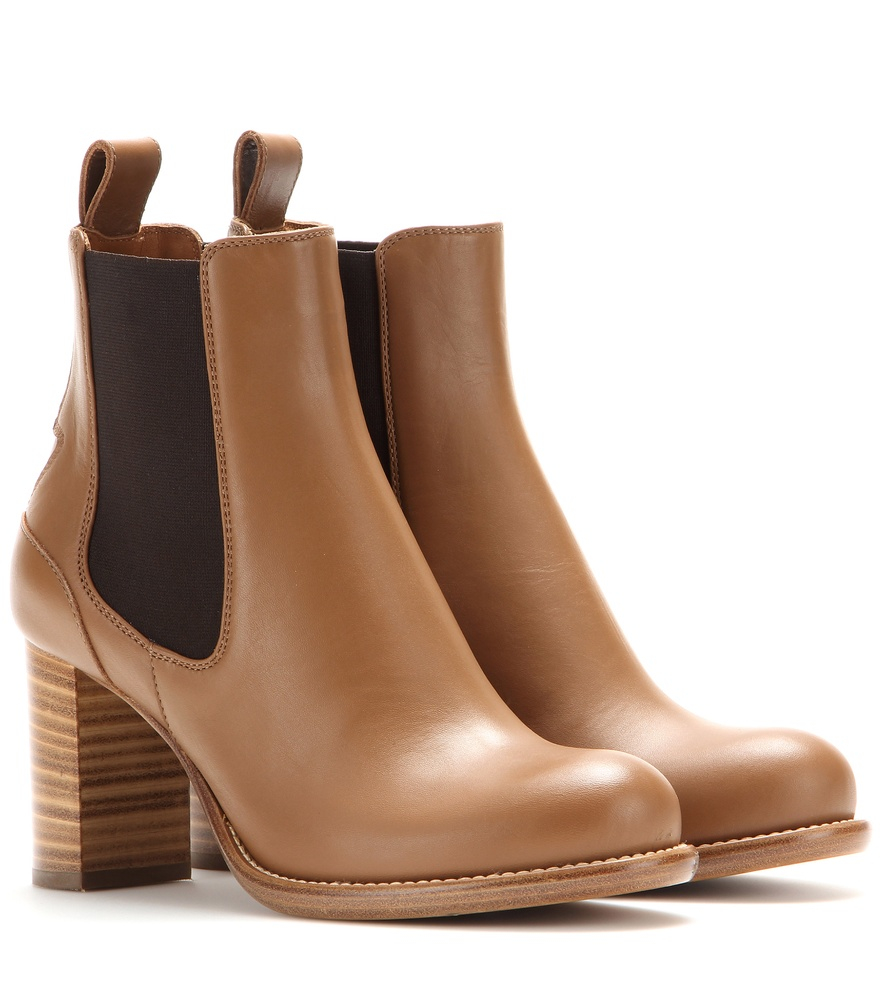 chlo bernie leather chelsea boots in brown lyst. Black Bedroom Furniture Sets. Home Design Ideas