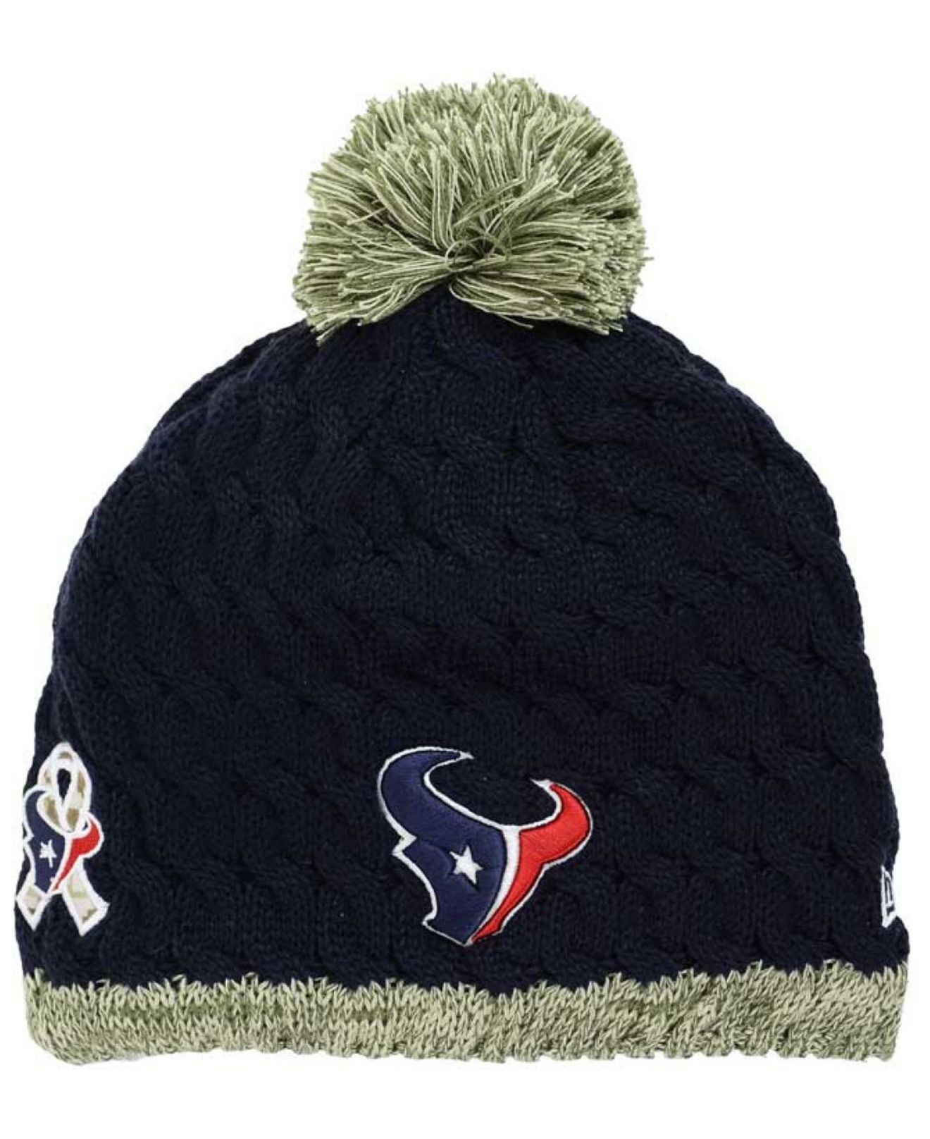 e10b2176d Lyst - KTZ Women s Houston Texans Salute To Service Knit Hat in Blue ...