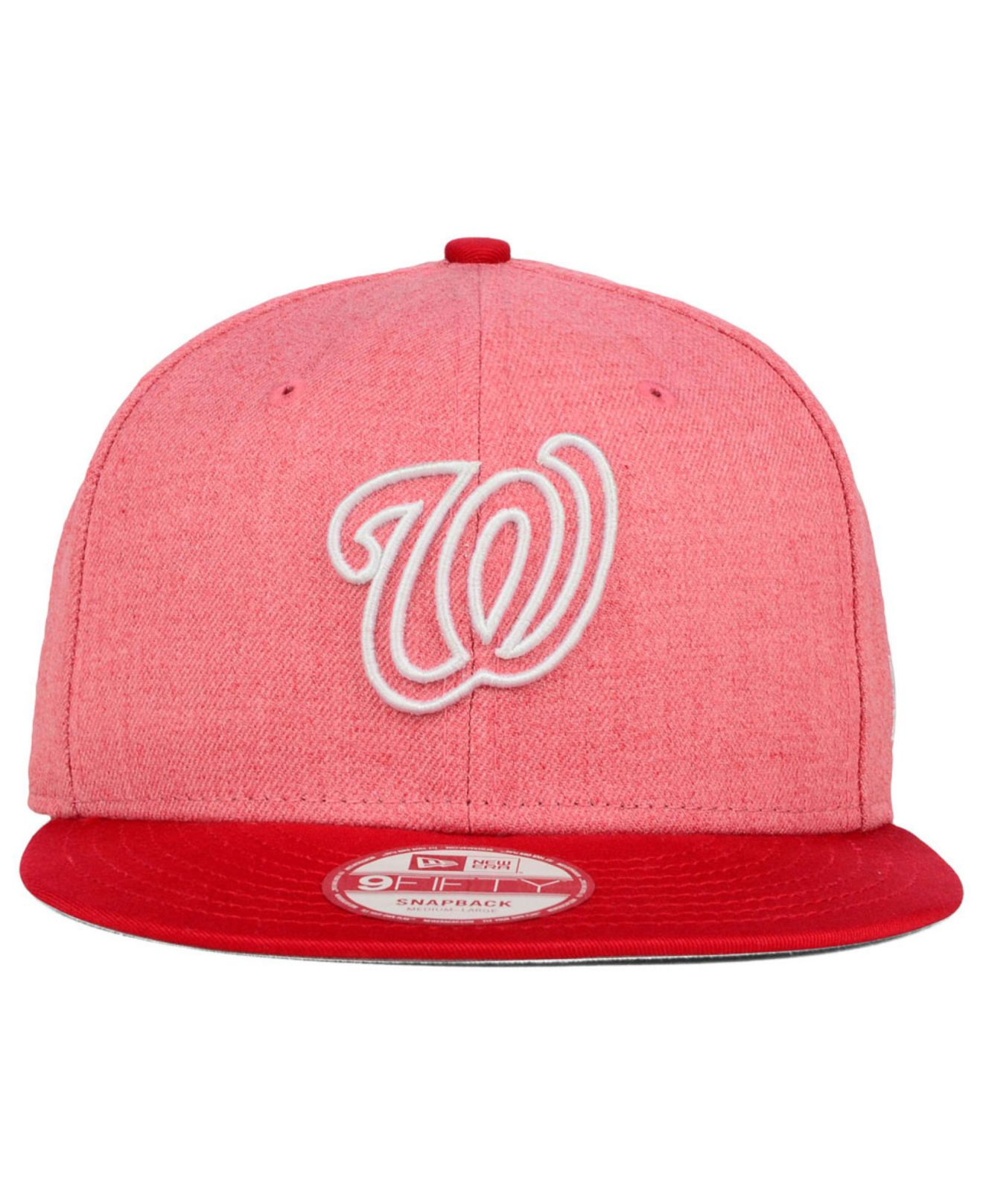 finest selection 530ea 80f2e ... release date lyst ktz washington nationals fresh tone 9fifty snapback  cap in 075e7 ce2a5