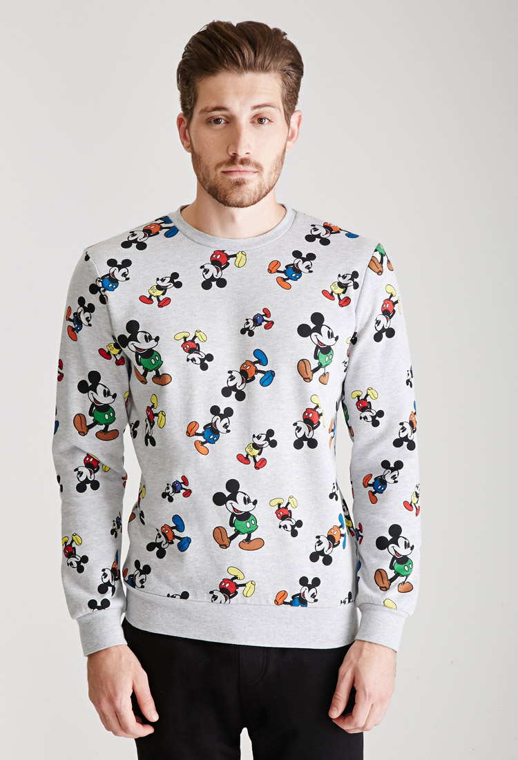 cbc4dd60 Forever 21 Mickey Mouse Sweatshirt in Gray for Men - Lyst