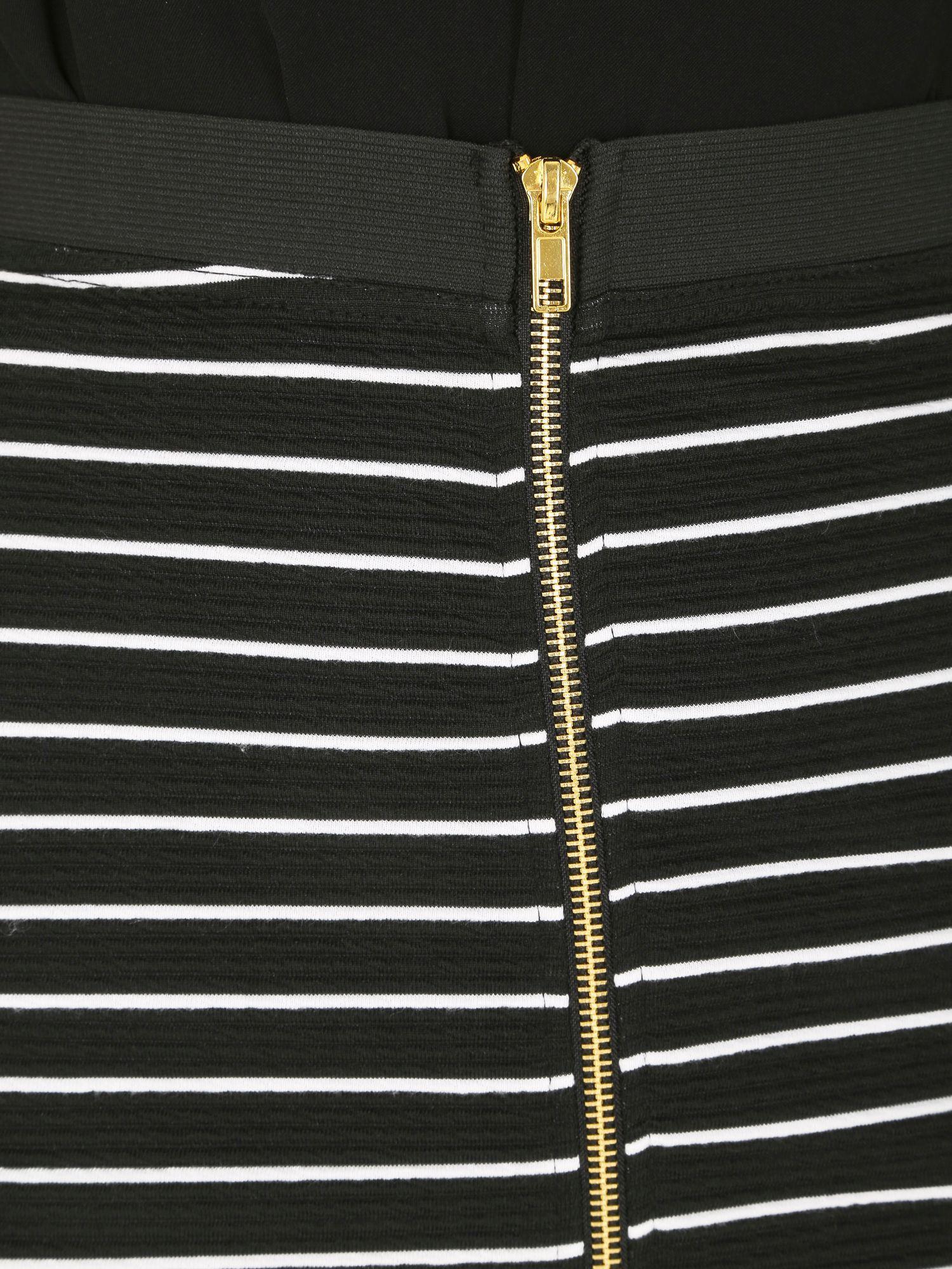 Izabel london Horizontal Stripe Pencil Skirt in Black ...