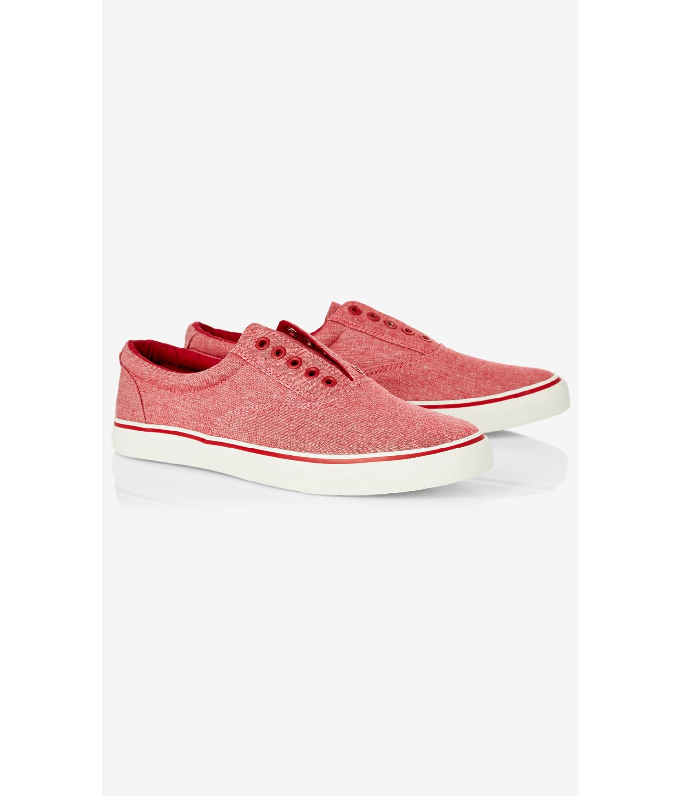 express low top laceless canvas sneaker in for