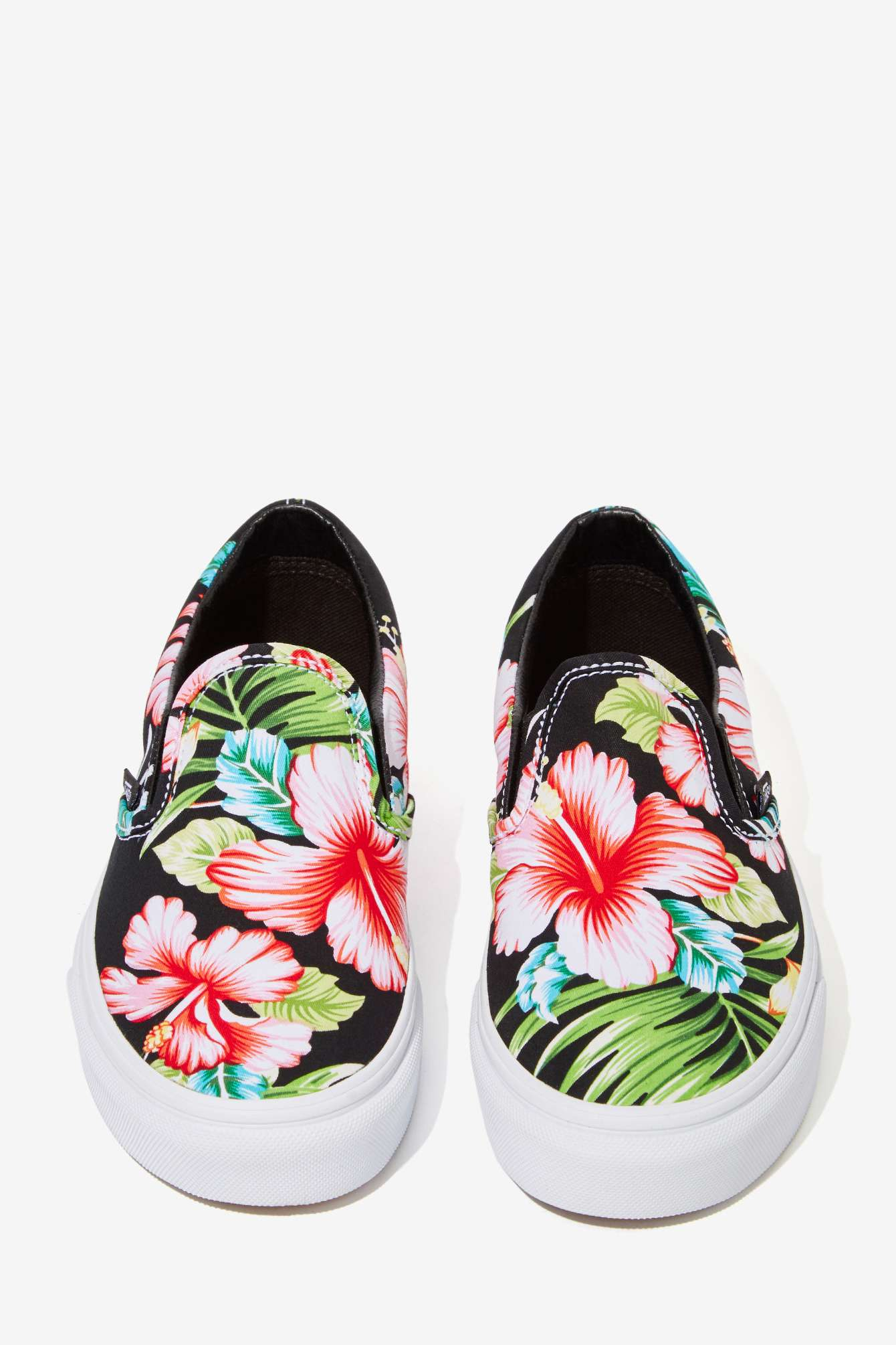 Nasty Gal Vans Classic Slip On Sneaker Black Hawaiian