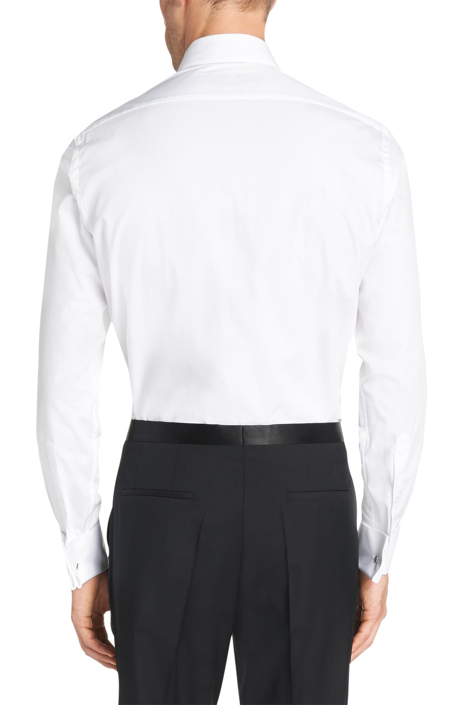 Boss regular fit dress shirt in easy iron cotton 39 grant for Regular fit dress shirt