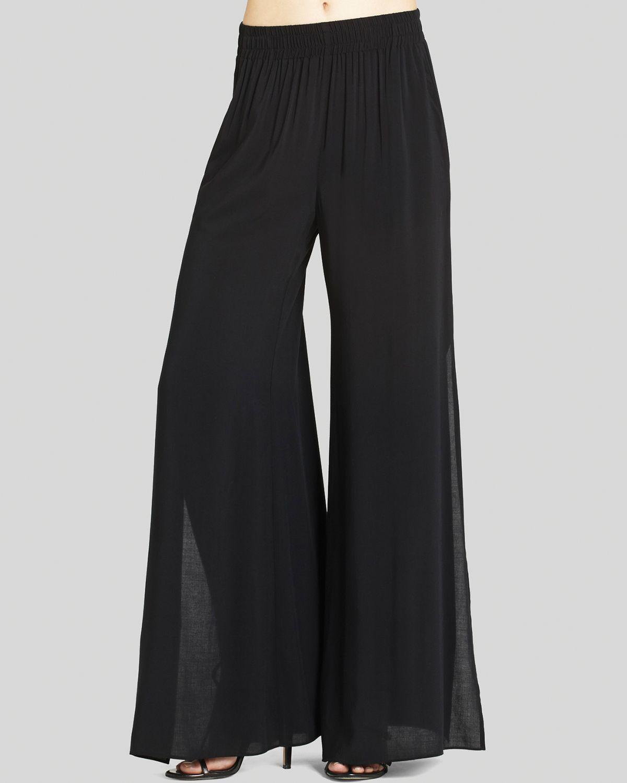 Bcbgeneration Pants Wide Slit In Black Lyst