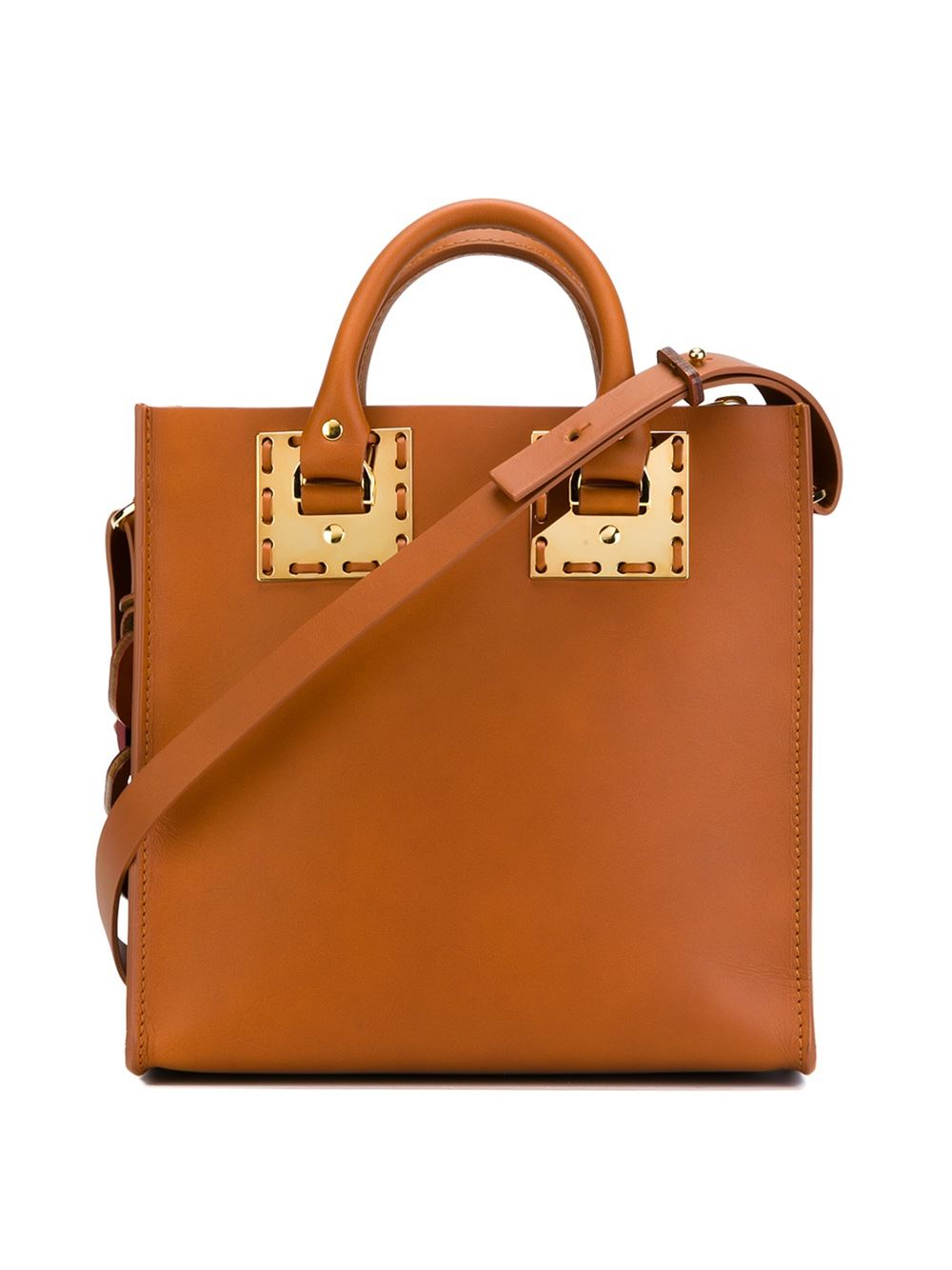 Sophie Hulme 'square Albion' Tote in Brown