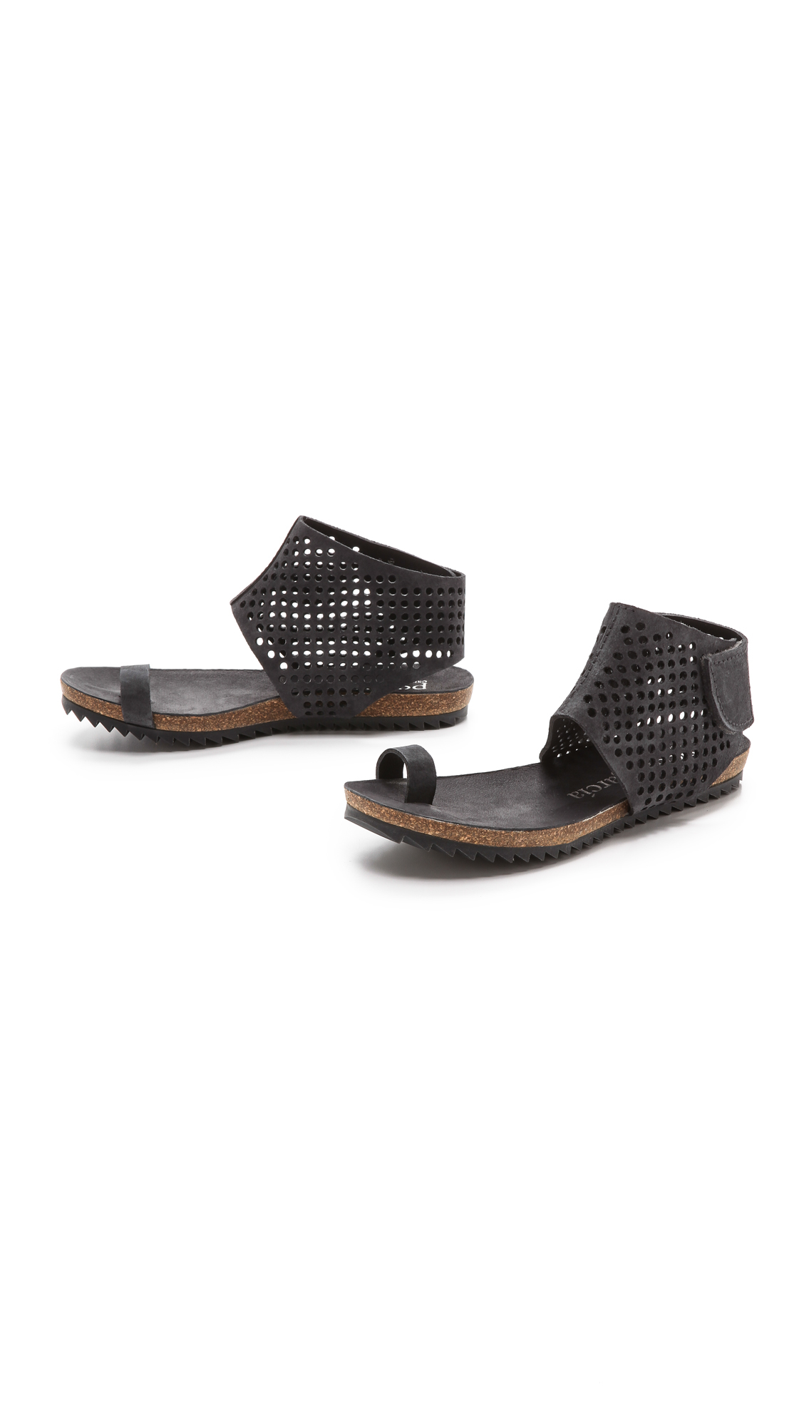 store with big discount amazing price cheap price Pedro Garcia Suede Toe-Ring Sandals Uoycb