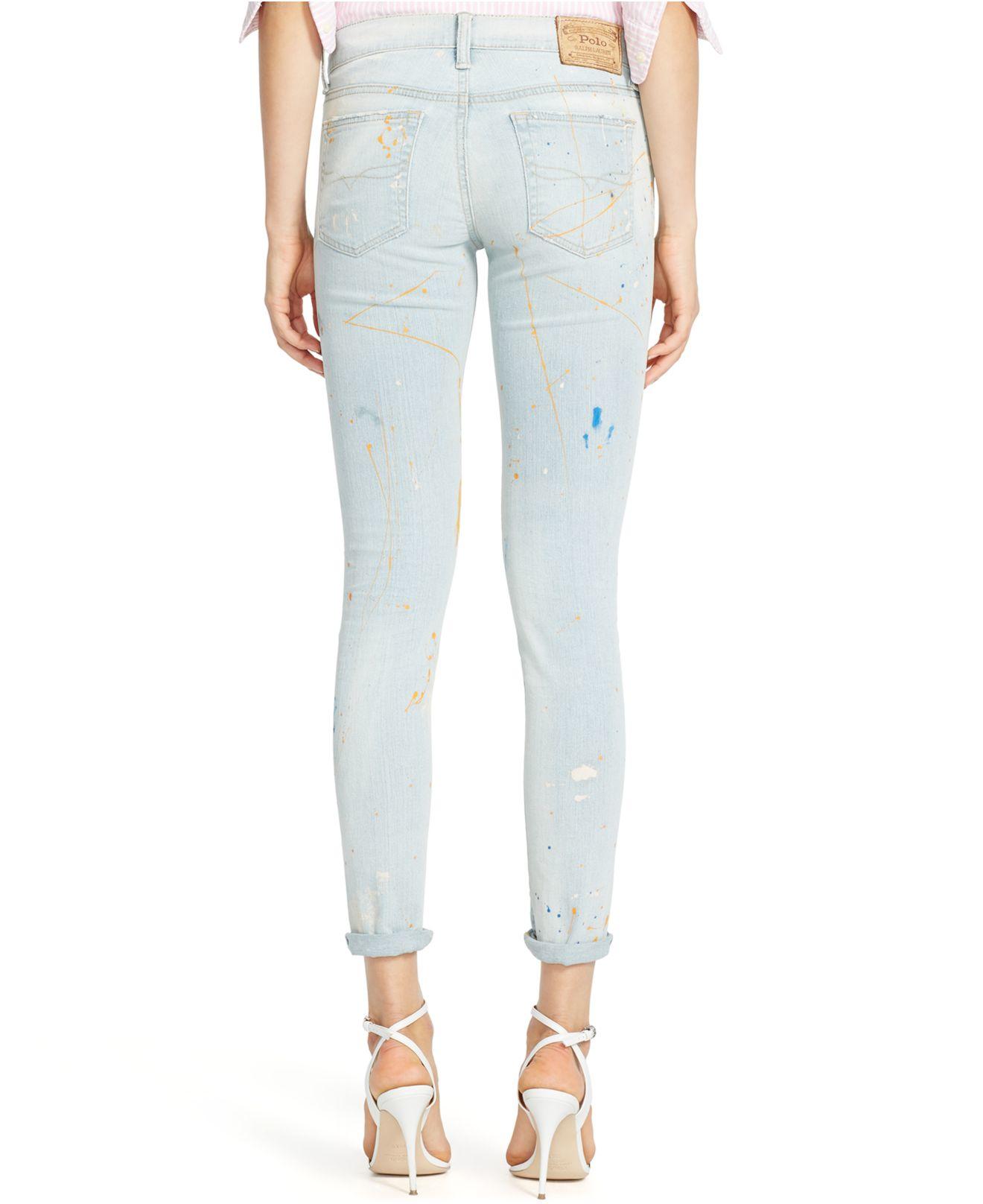 fee4e72392 Polo Ralph Lauren Blue Tompkins Cropped Skinny Jeans