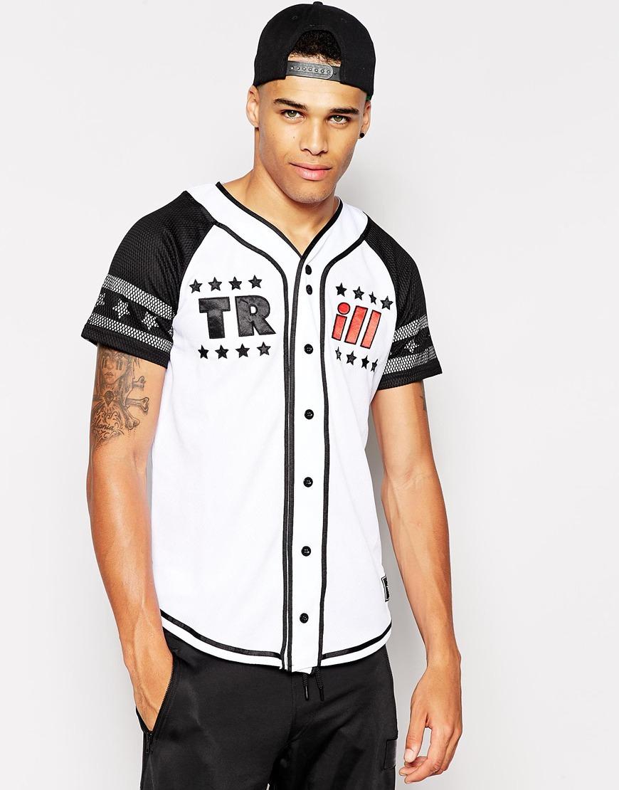 online retailer bb54c b7bda Men's White Baseball Jersey