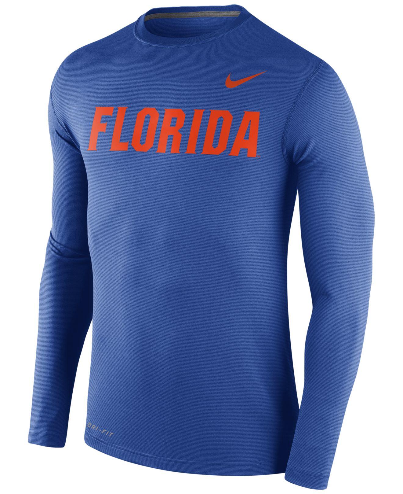 Nike men 39 s long sleeve florida gators stadium dri fit for T shirt printing mobile al