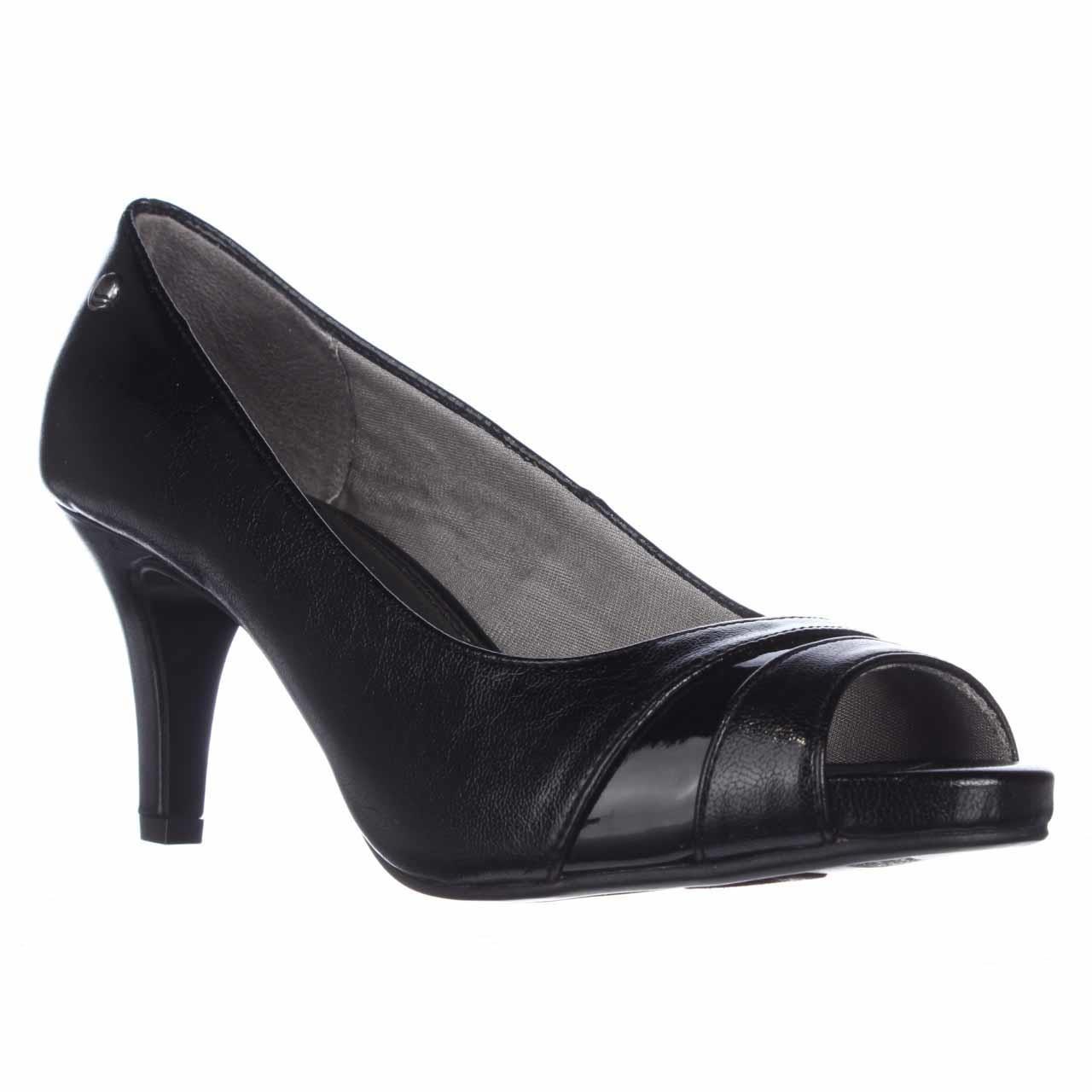 Black Peep Toe Kitten Heels