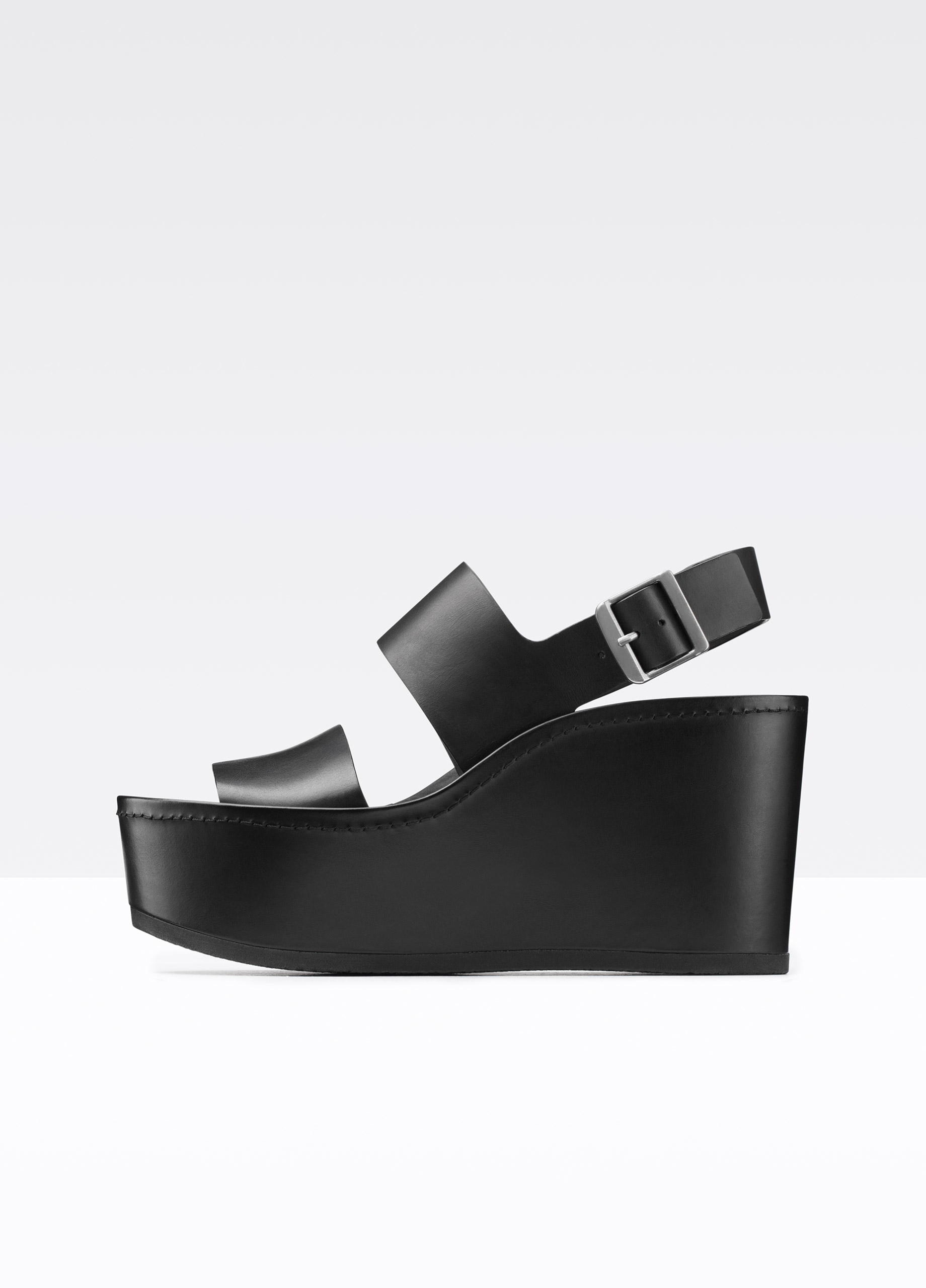 579f808513c Vince Idalia Leather Platform Sandal in Black - Lyst