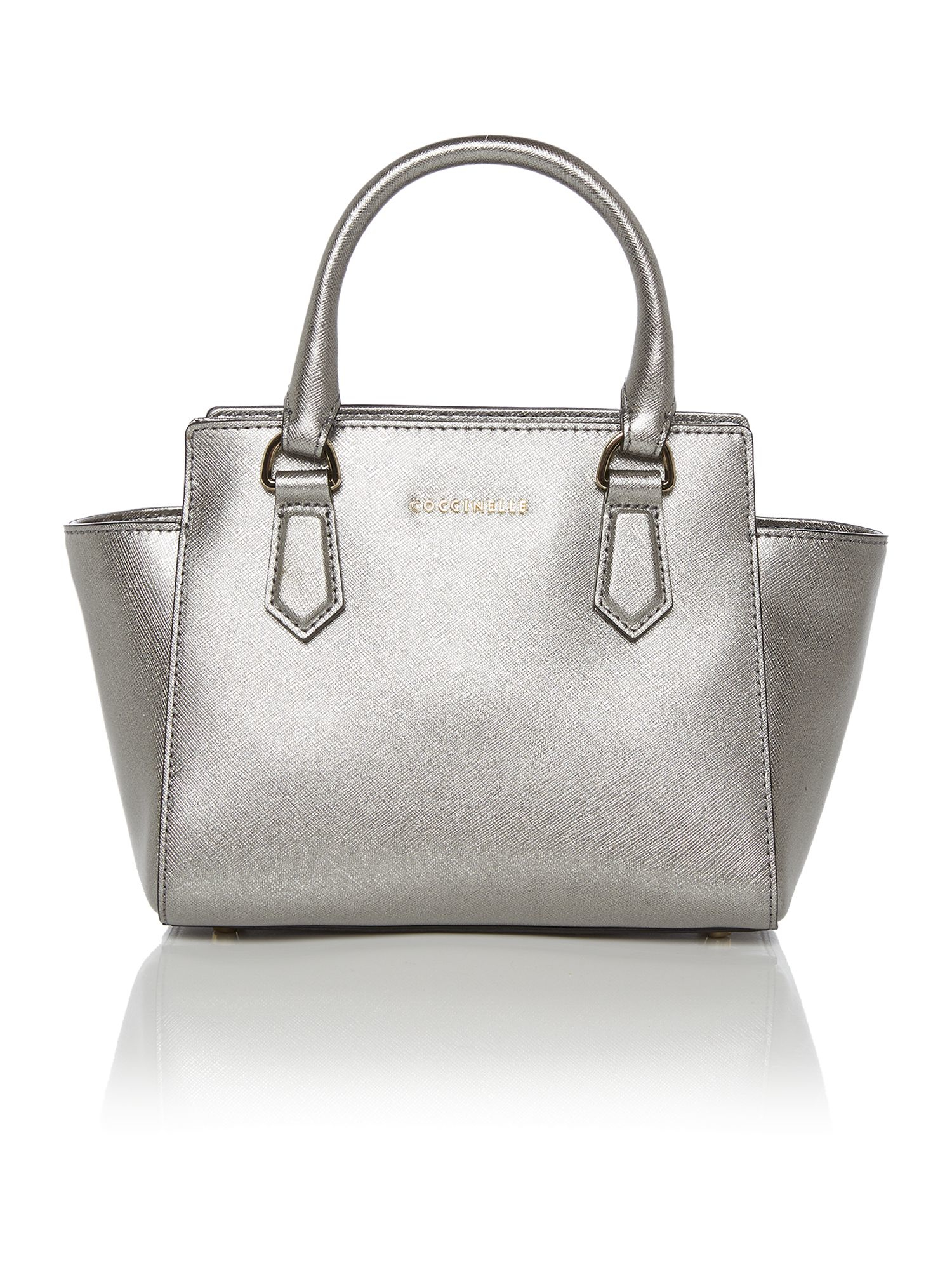 Coccinelle Blanche Silver Tote Bag in Metallic