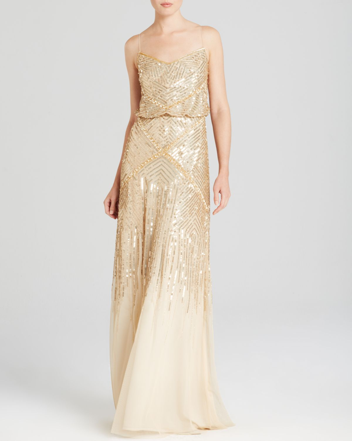 Adrianna Papell Wedding Gowns: Adrianna Papell Sleeveless Beaded Blouson Gown