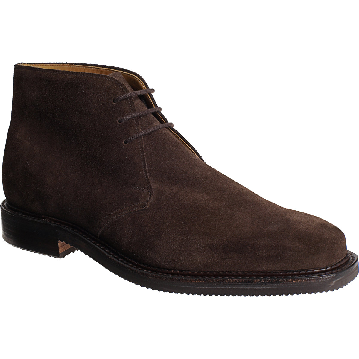 crockett and jones molton suede chukka boots in brown for