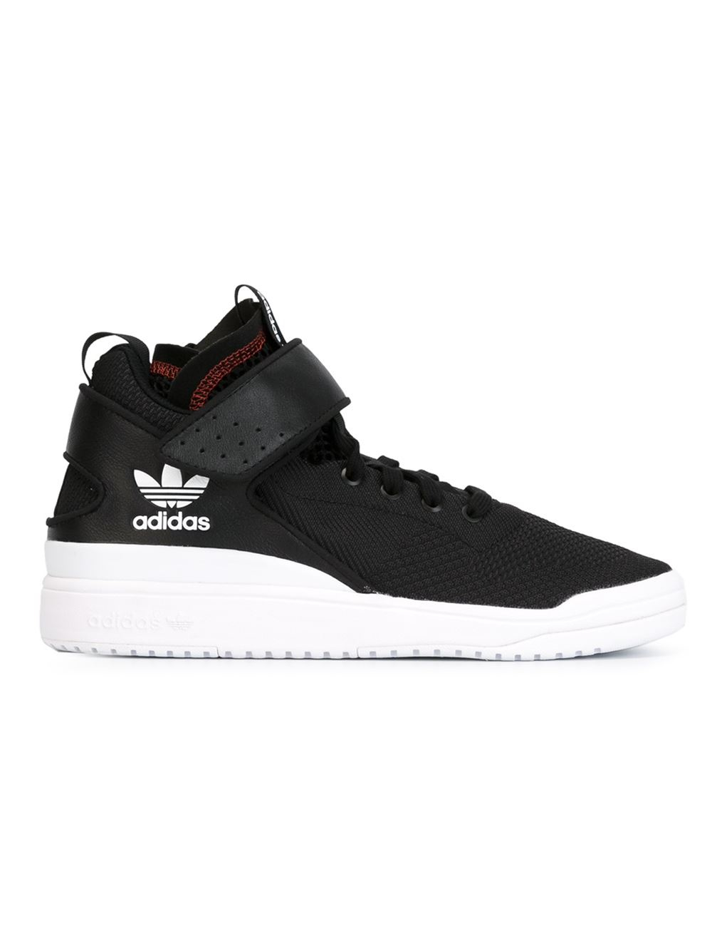 Adidas Originals Top Ten Hi Rare Sneakers New Brown: Adidas Originals Veritas High-Top Sneakers In Black For
