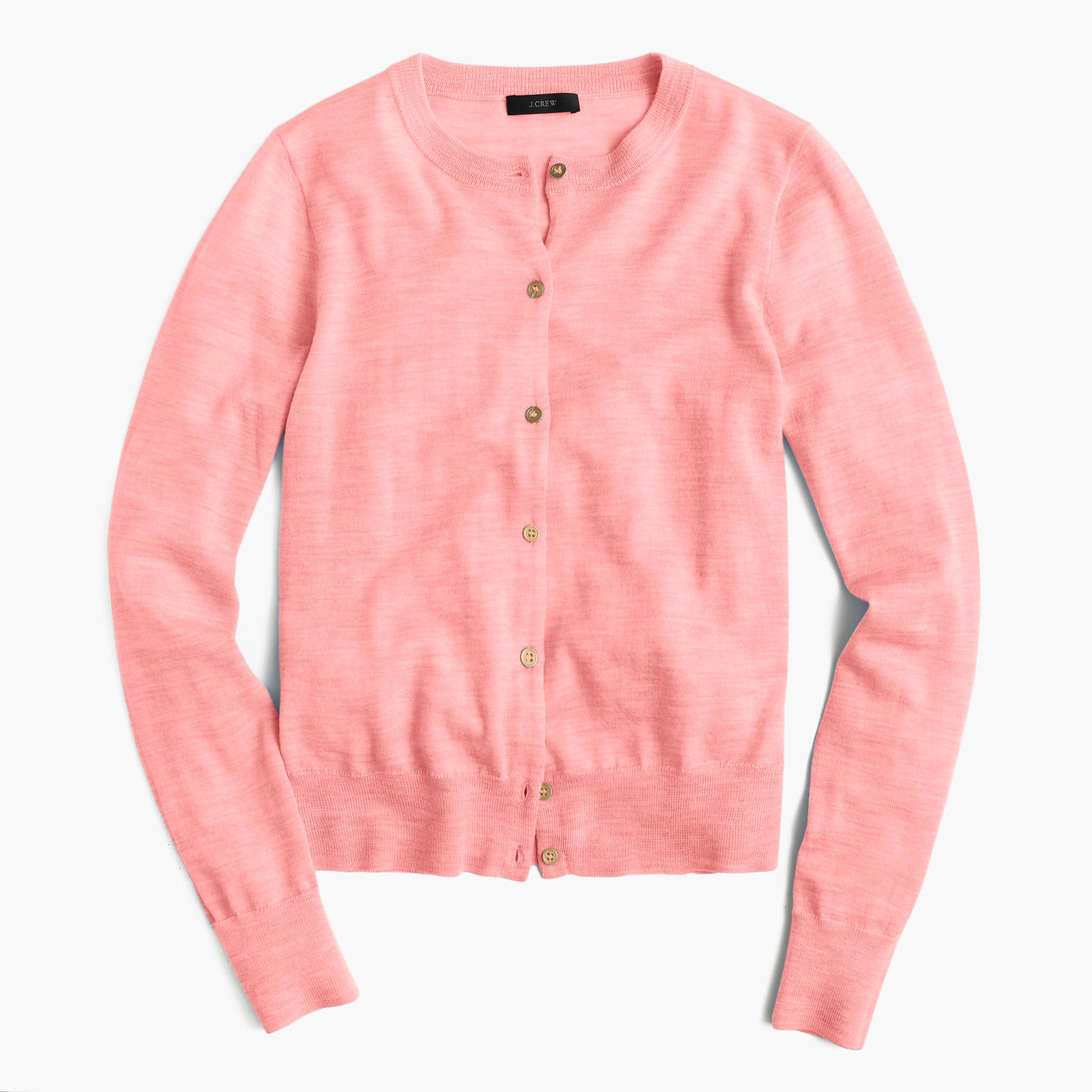 J.crew Lightweight Wool Jackie Cardigan Sweater in Pink | Lyst