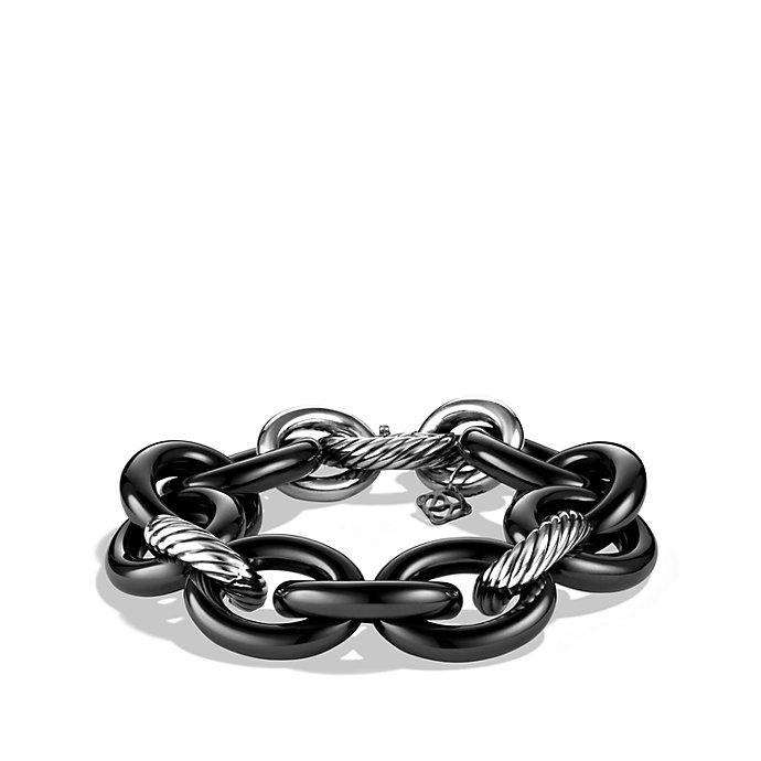 David Yurman Oval Extra Large Link Bracelet In Black Lyst