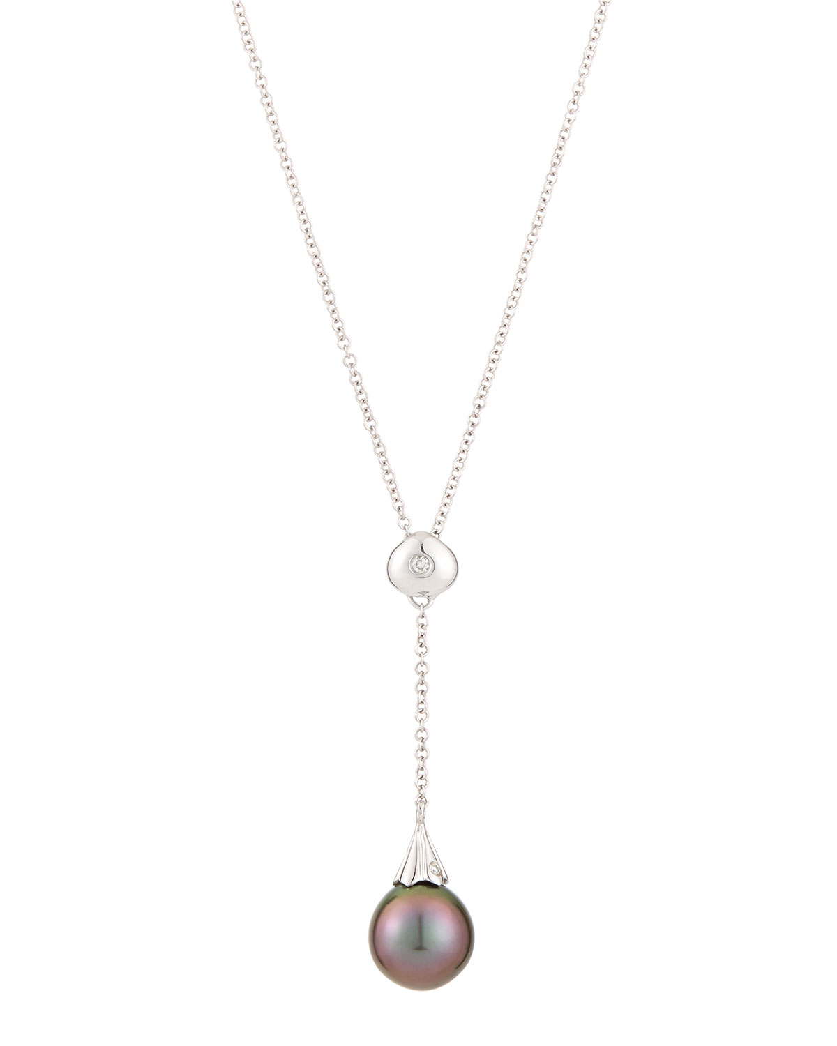 Belpearl 14k Diamond & Pearl Round Pendant Necklace RuWI7