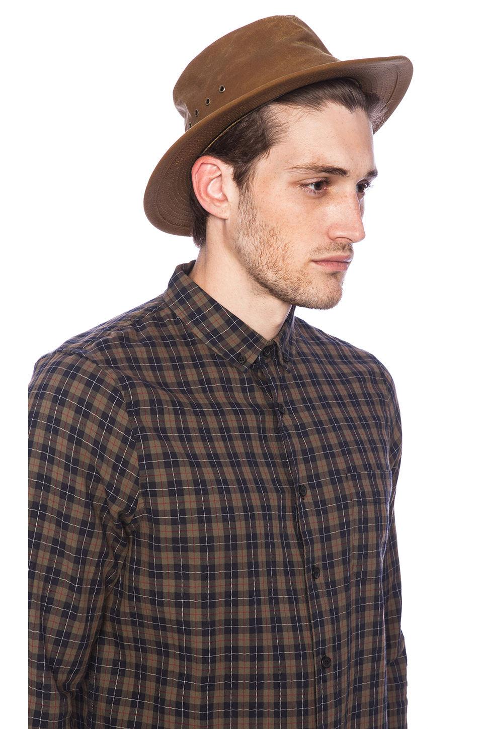 Lyst - Filson Tin Cloth Packer Hat in Brown for Men 001eaf2ab27