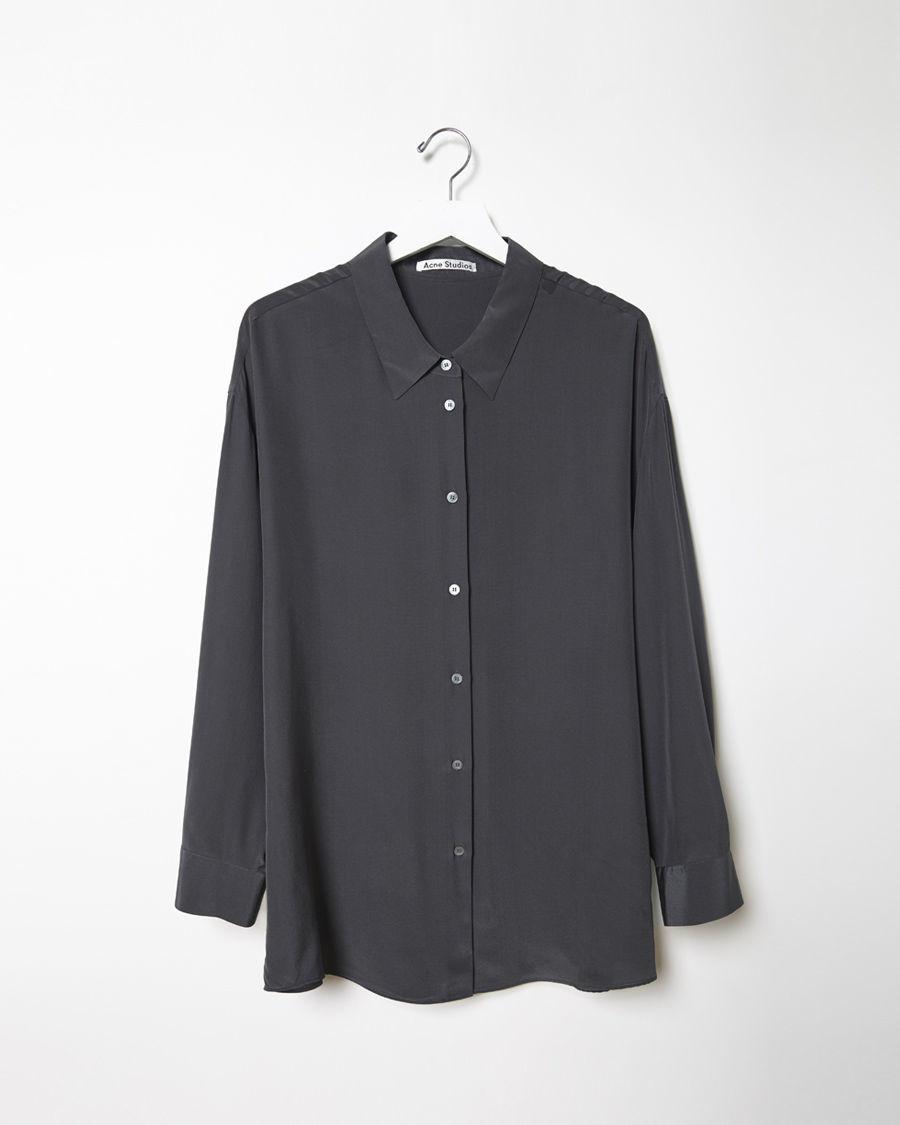 Gray Blouses Tops