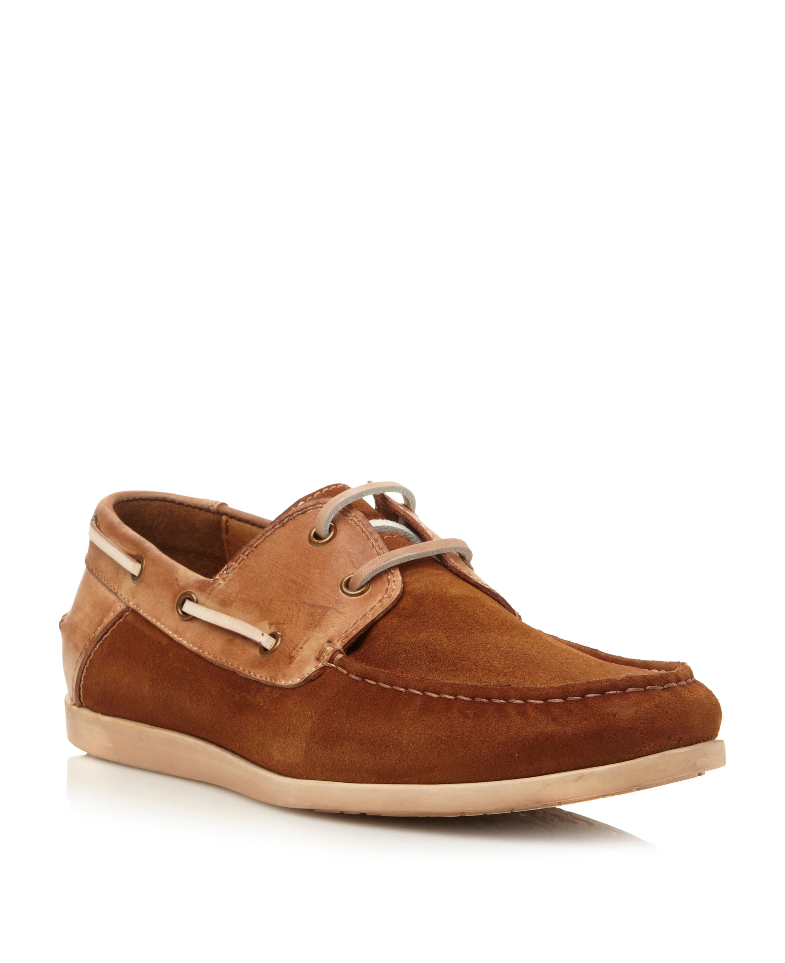 Steve madden Qnsboro Lace Up Combo Boat Shoes in Brown for Men | Lyst
