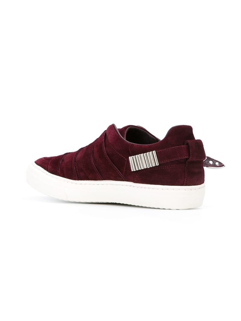Toga Buckled Sneakers in Red