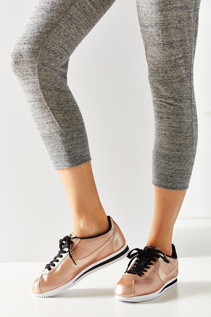 bbd0faae72d39f Lyst - Nike Women s Classic Cortez Leather Sneaker in Metallic