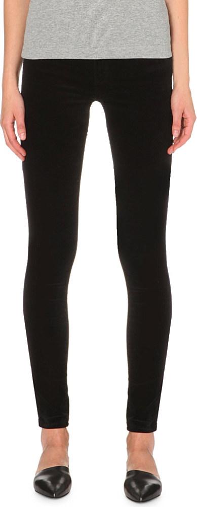 AG Jeans Velvet Legging Ankle Jeans In Black Stretch Sateen - Save 68%