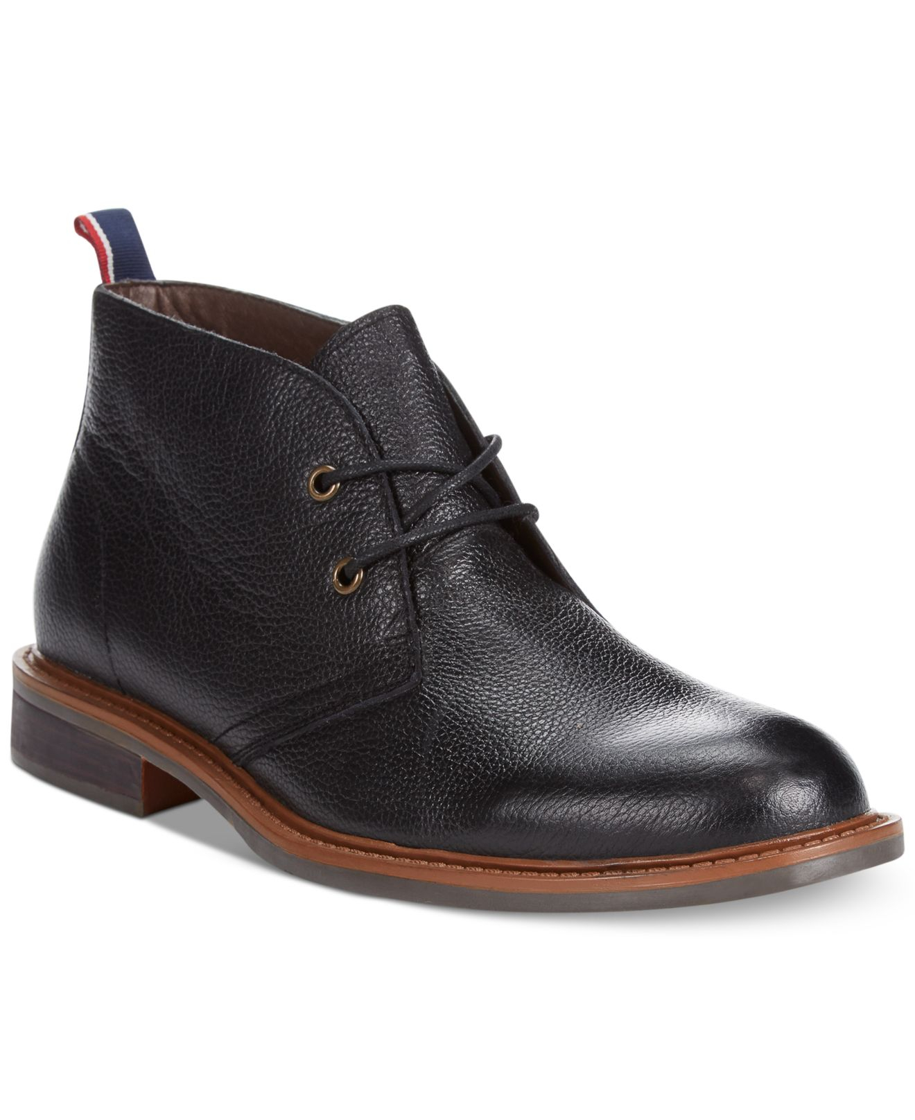 tommy hilfiger stoneham2 chukka boots in black for men lyst. Black Bedroom Furniture Sets. Home Design Ideas