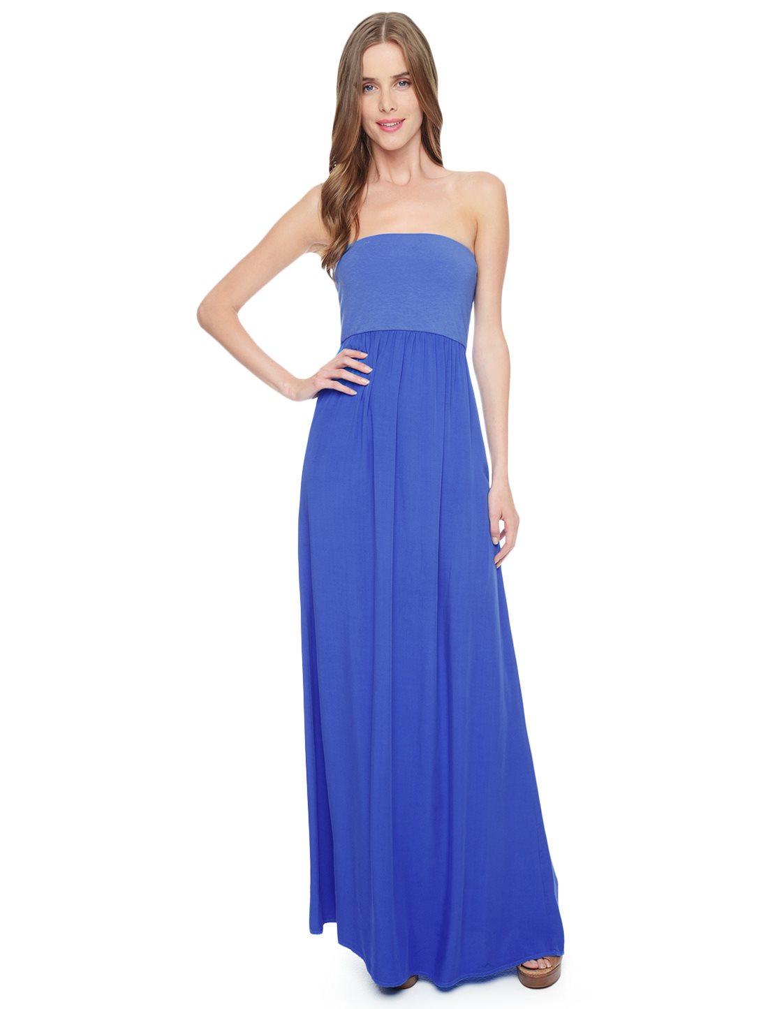 Splendid Strapless Maxi Dress in Blue (Riviera) | Lyst