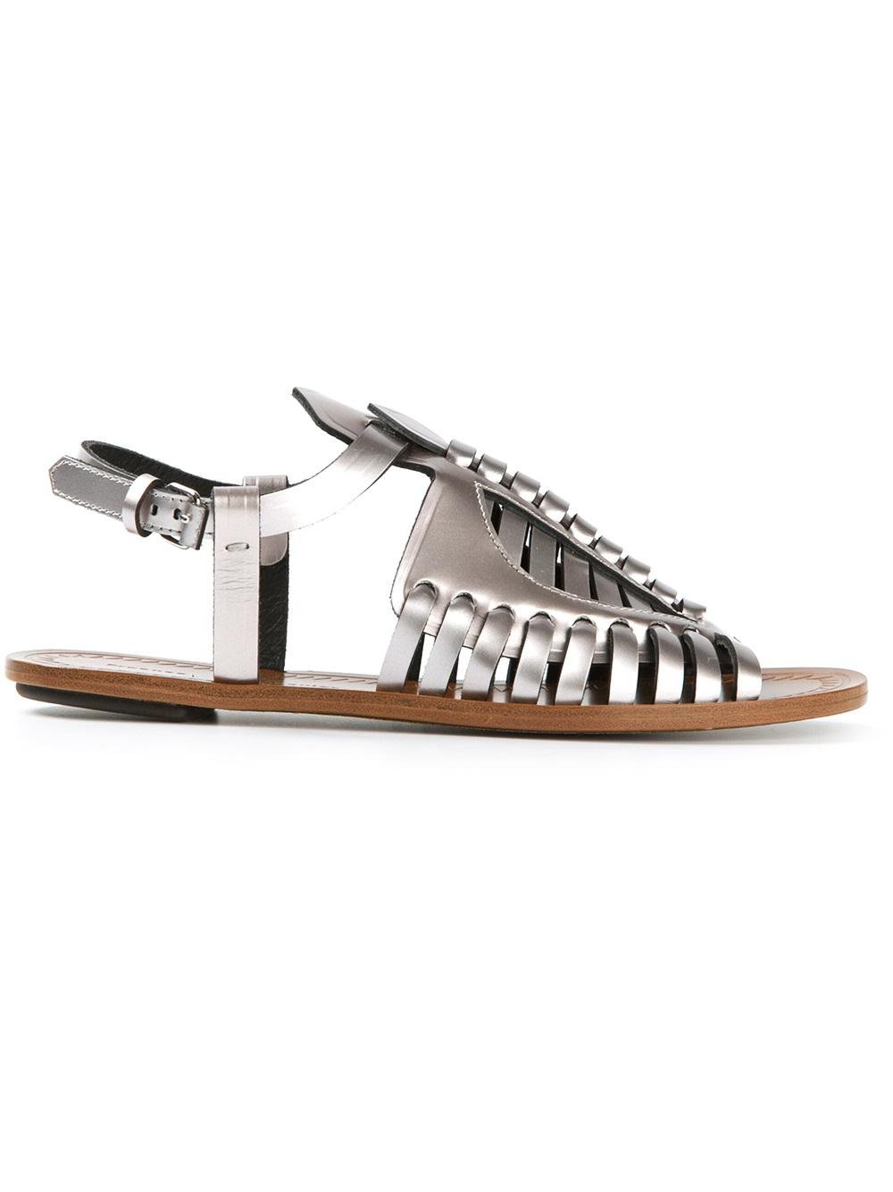shop for cheap price new sale online Proenza Schouler Metallic Woven Sandals discount ebay cheap 2015 new kdSjS
