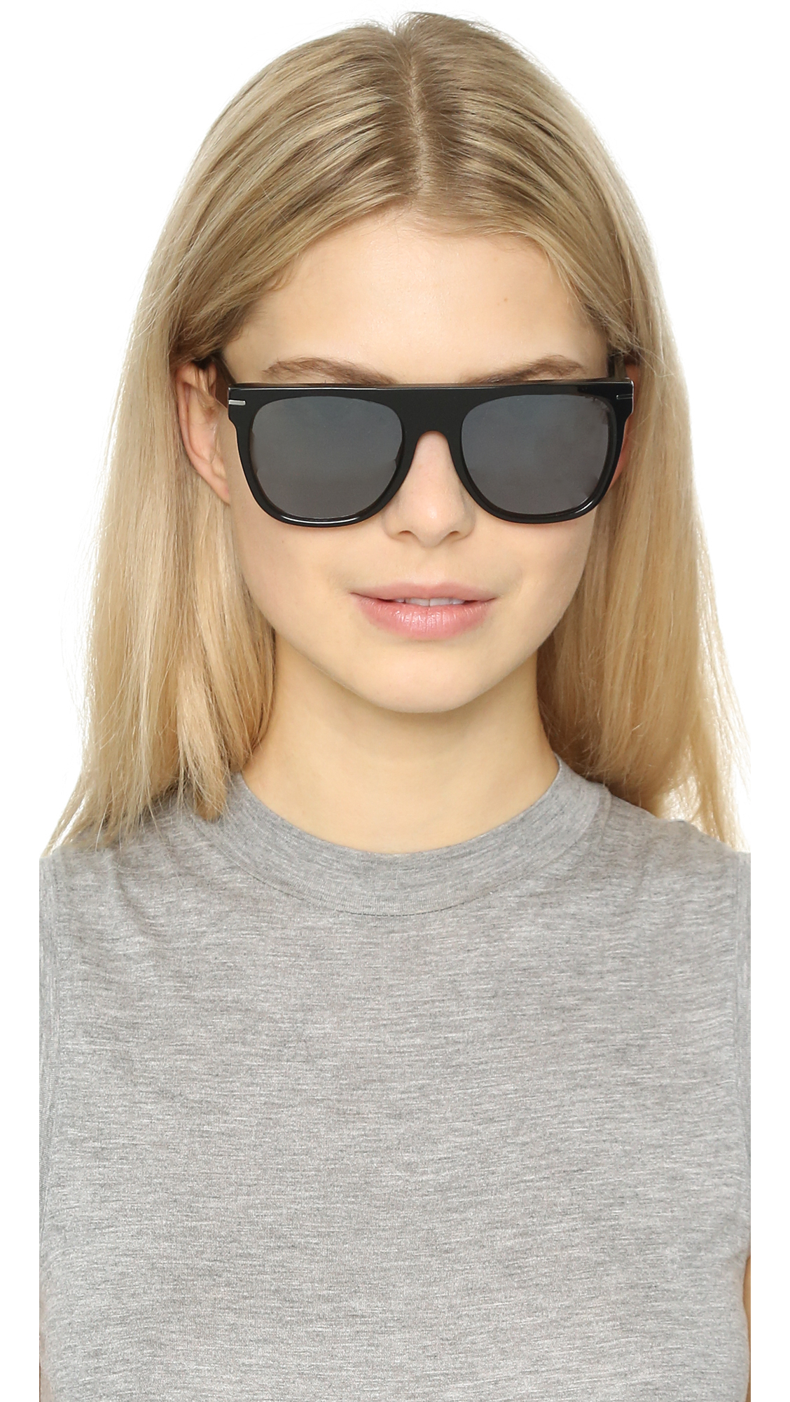 Retrosuperfuture Flat Top Triflect Sunglasses in Black/Black (Black)