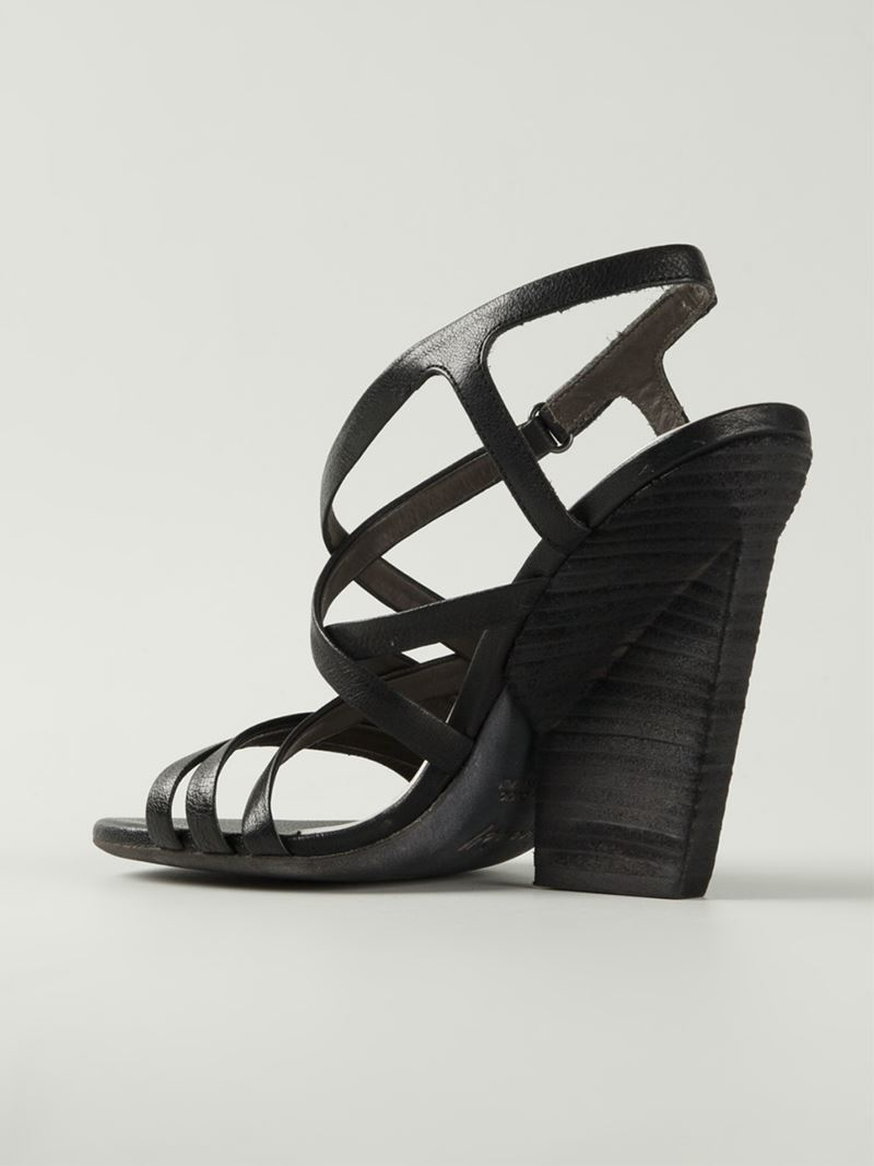 10cf39bbafe5fd Lyst - Marsèll Strappy Sandals in Black