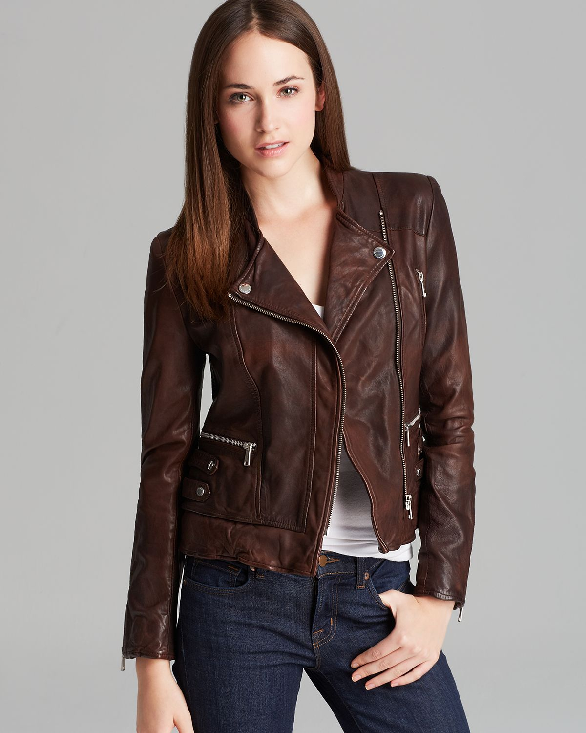 Brown Leather Jackets Women - Jacket