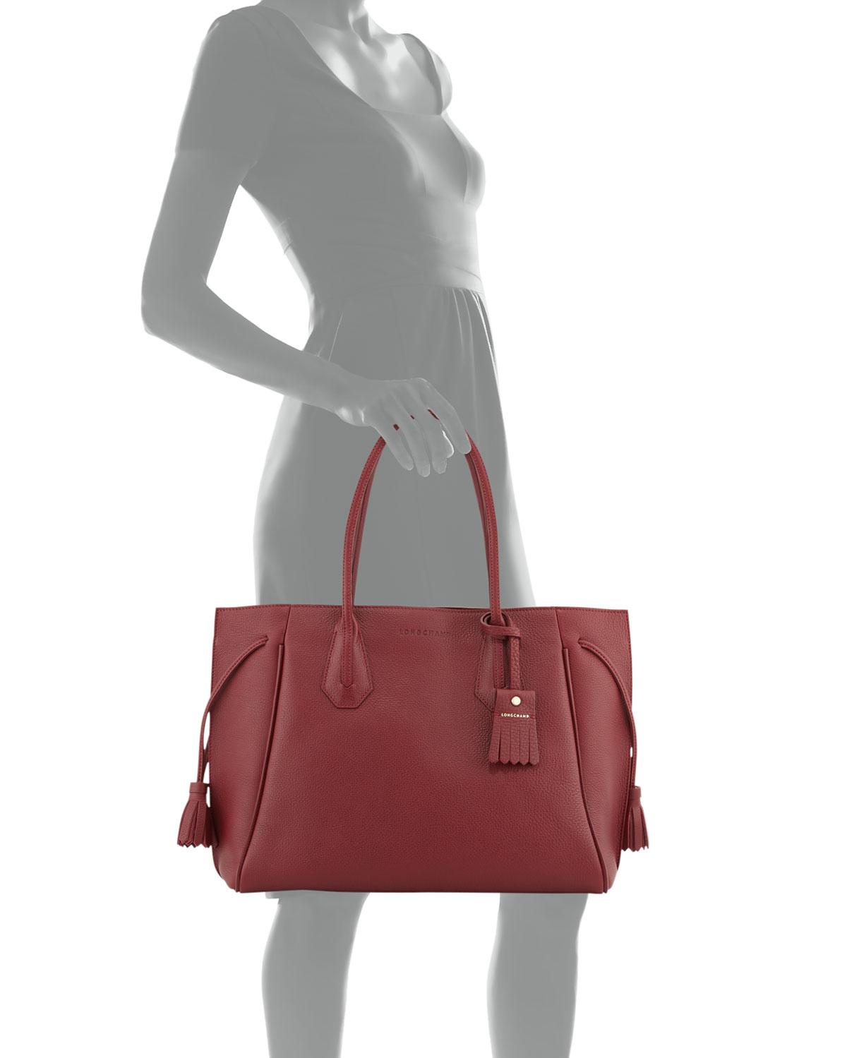 61dc8791604 Longchamp Large Leather Tote Bag.Longchamp Penelope Leather Shoulder ...