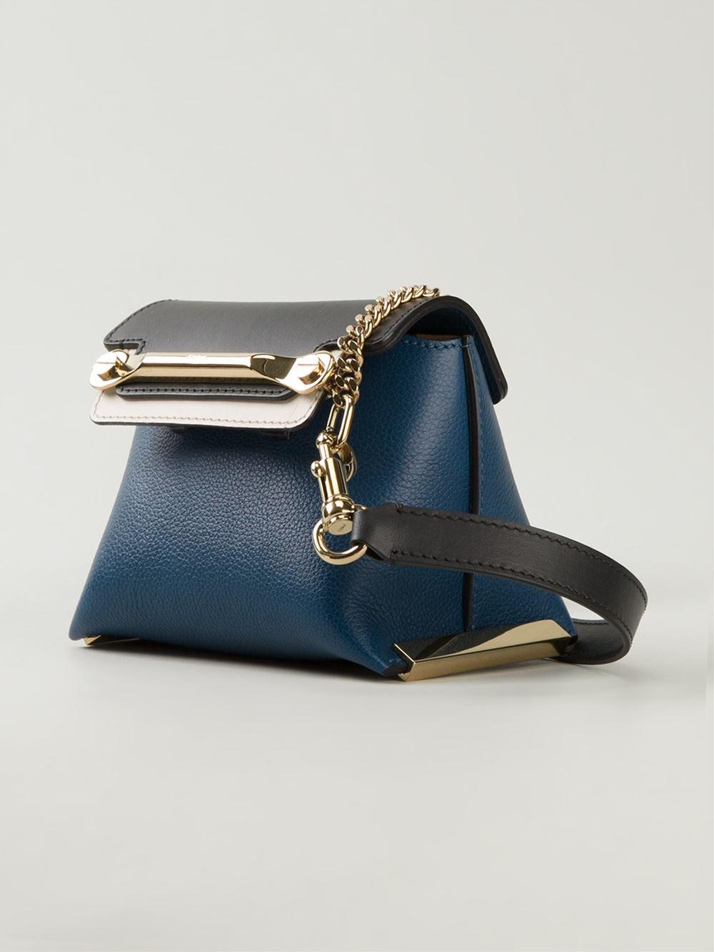 Chloé 'Clare' Cross Body Bag in Blue
