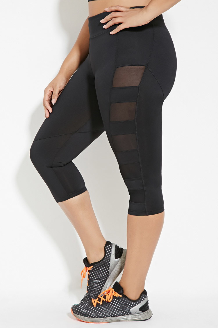 Plus Size Black Capri Leggings - The Else