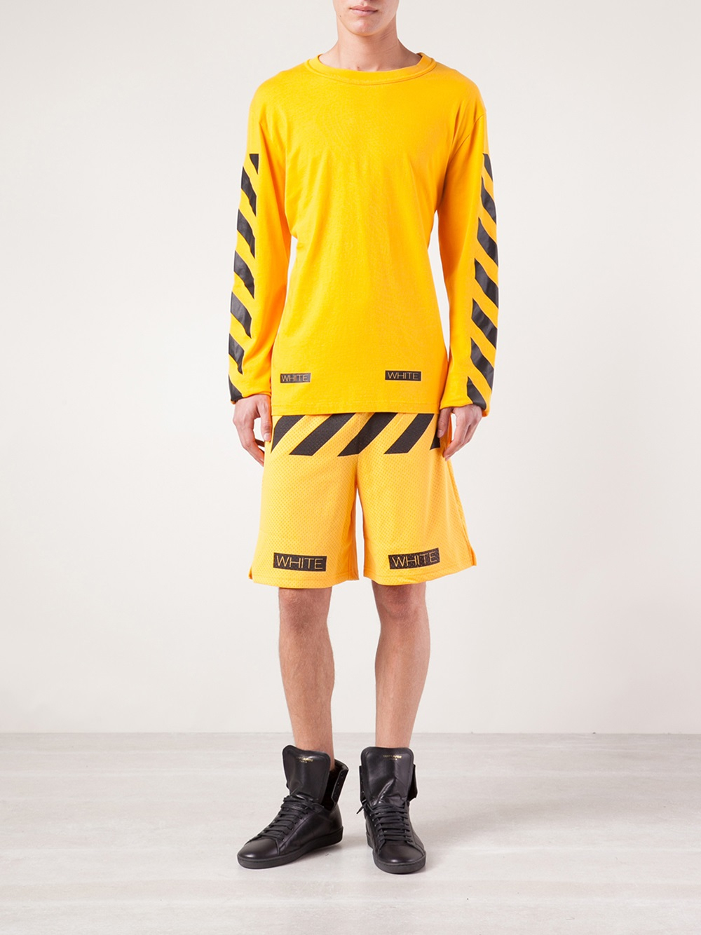 Off-white c/o virgil abloh Long Sleeve T-Shirt in Yellow for Men ...