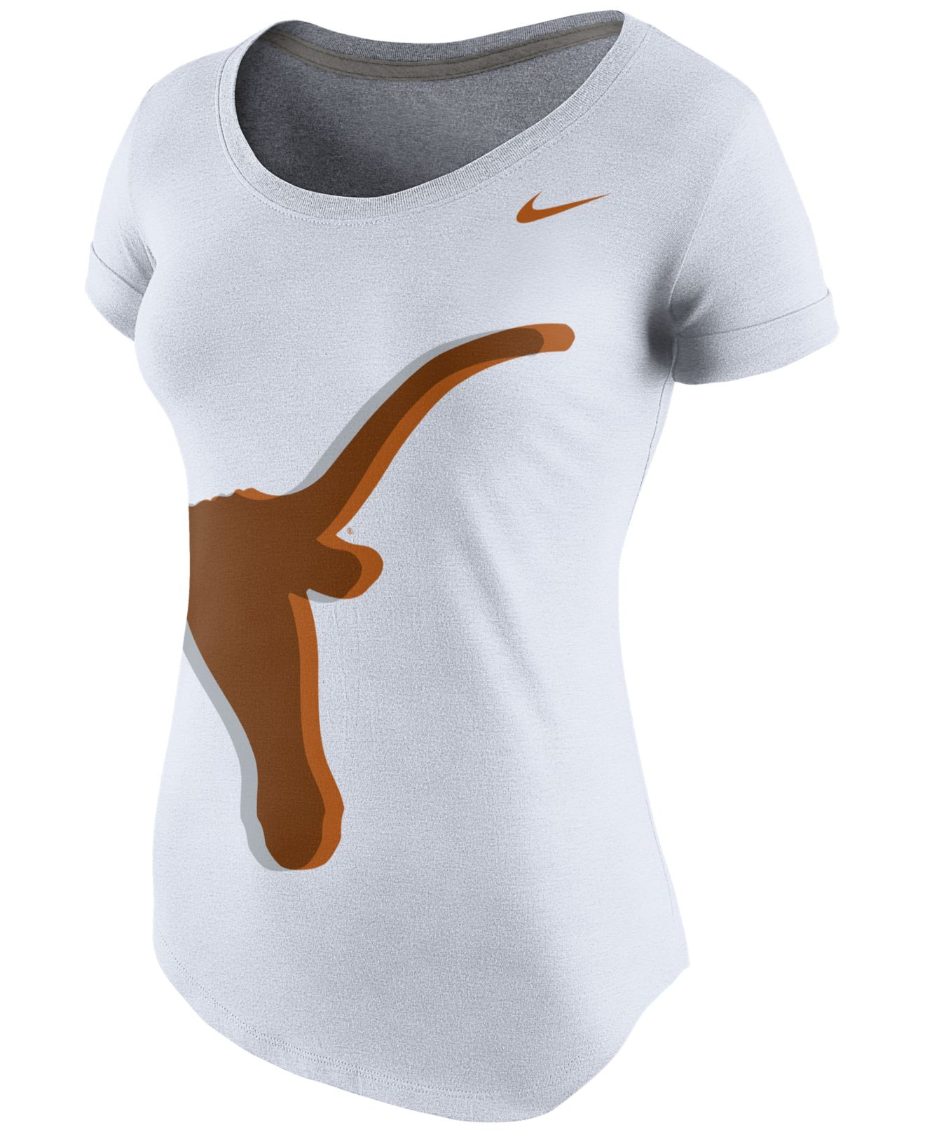 los angeles 2d19a f4ac4 Nike Women S Texas Longhorns Scoop Tri-Blend T-Shirt in White - Lyst