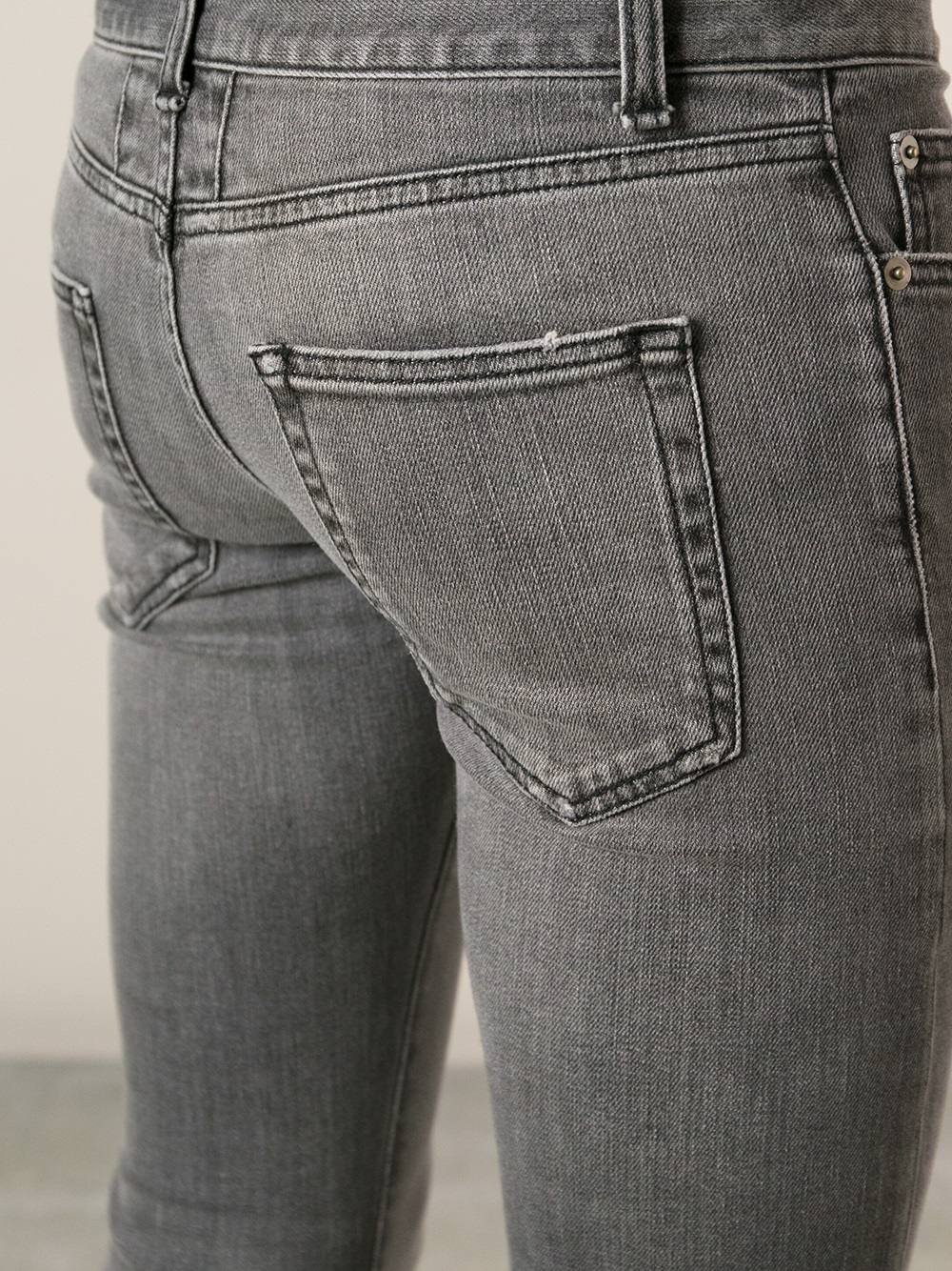 lyst  saint laurent stone washed jeans in gray for men