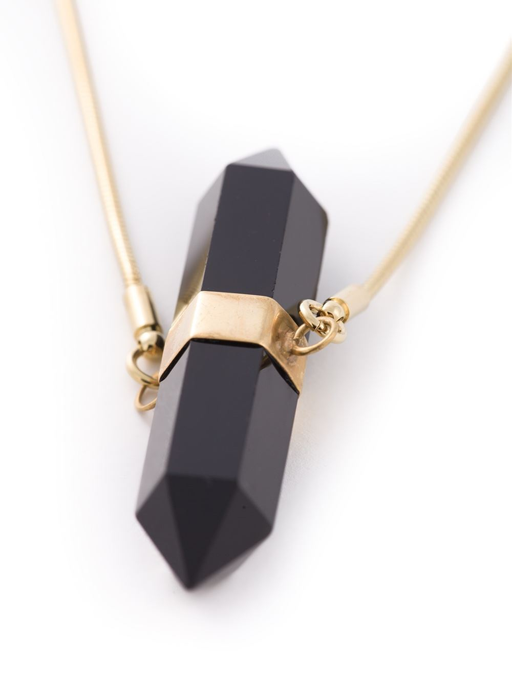 Lyst Isabel Marant Crystal Pendant Necklace In Black